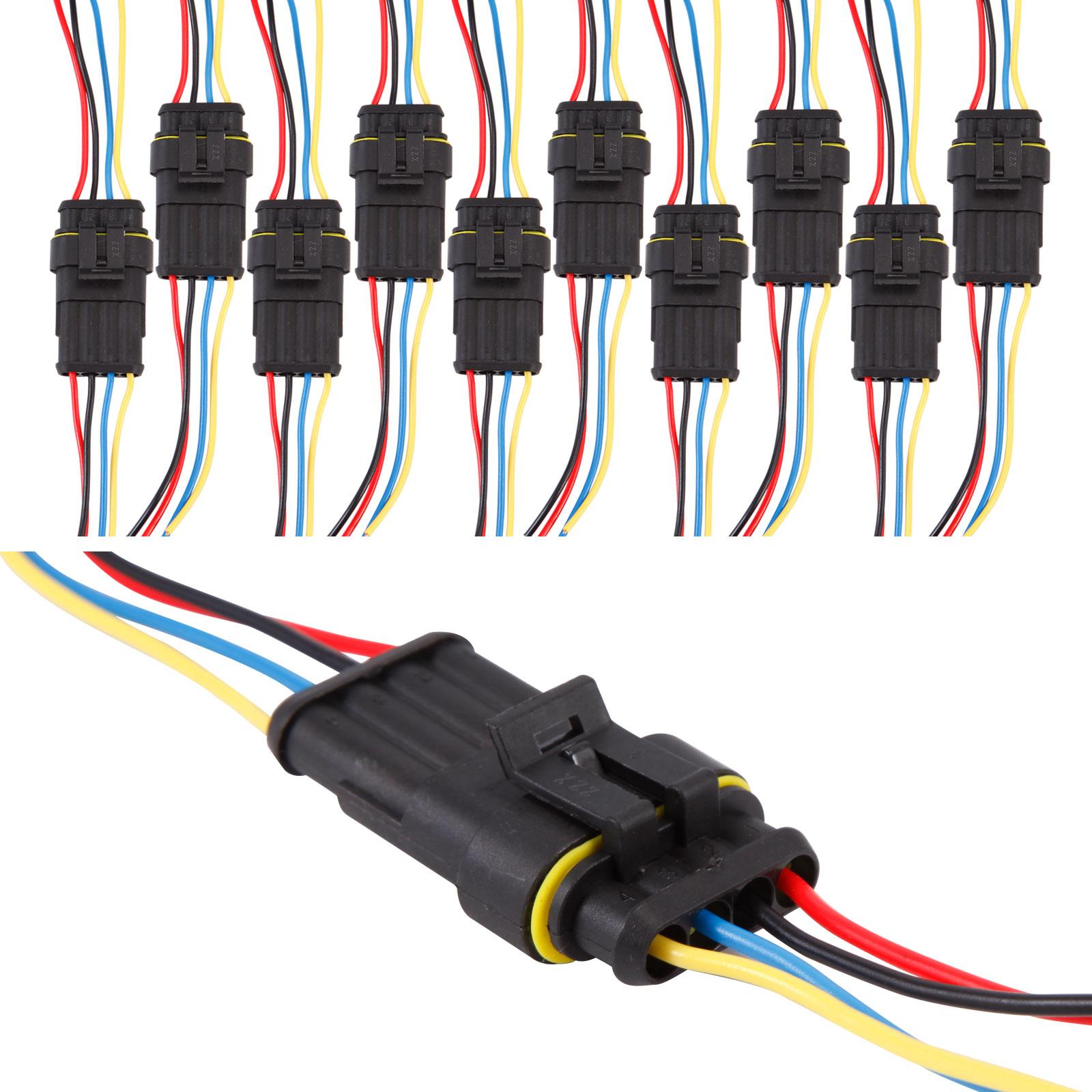 1 2 3 4 5 6 fiche connecteur lectrique etanche amp cosse broche cable voiture ebay. Black Bedroom Furniture Sets. Home Design Ideas