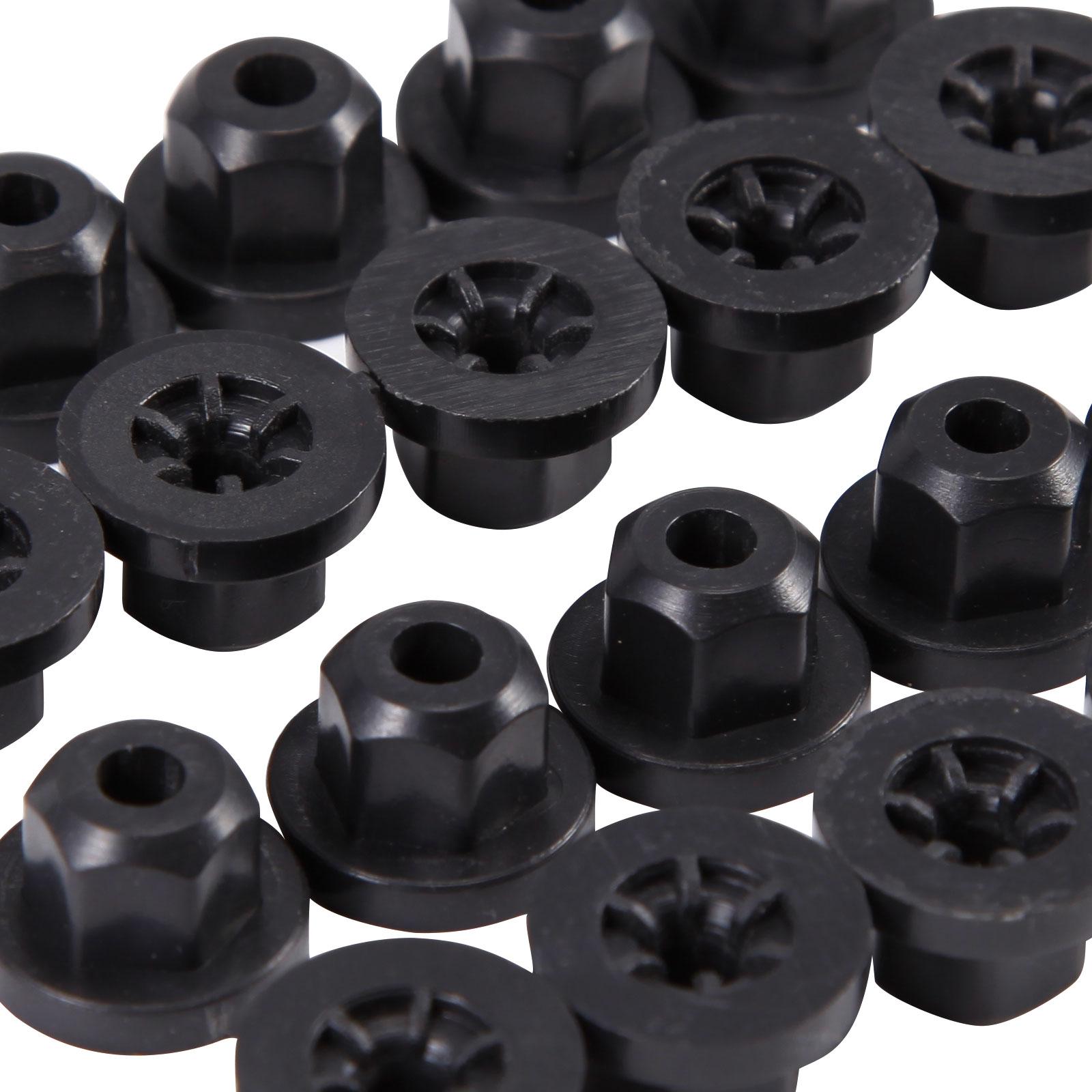 8E0825265 Carpets /& Sensor Mounts 180942 Trim 10x Plastic Nuts Unthreaded 16131176747 90413589