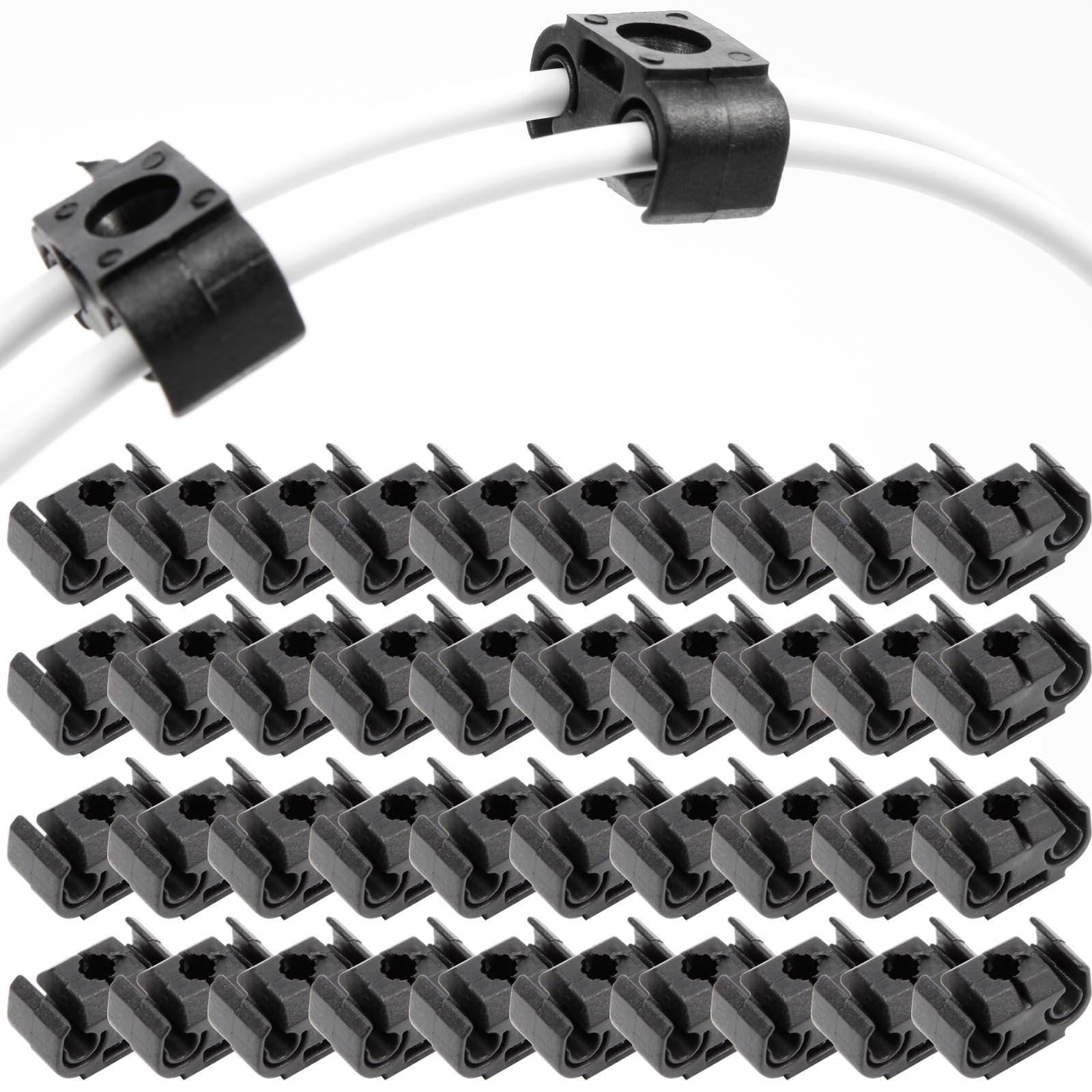 40 Stück Doppelt Bremsleitungshalter Clip für Audi VW 4,75 mm 811611797 Schwarz