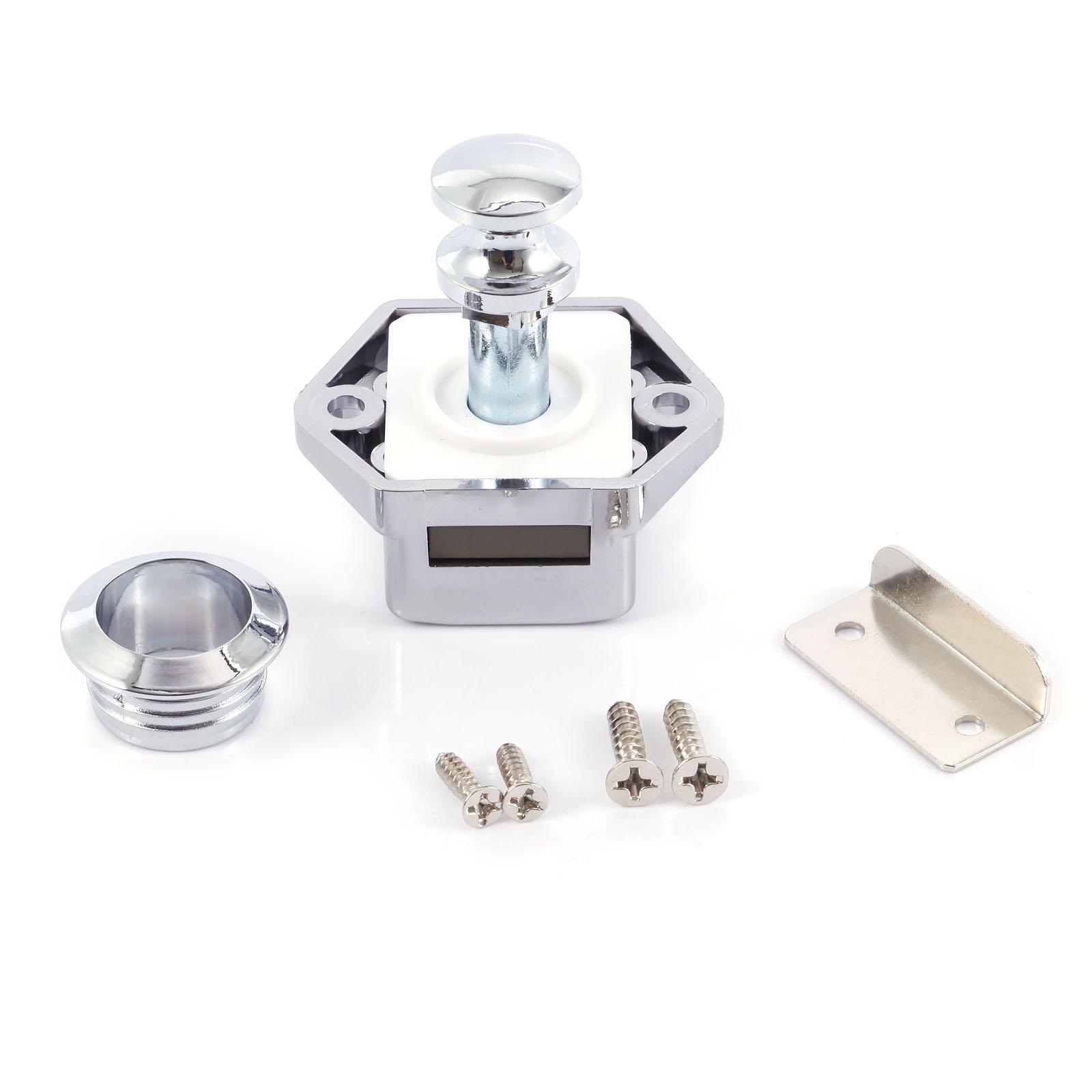 10x Push-Lock Mini Möbelschloss Druckschlösser Druckknopf für Boot /& Caravan NEU