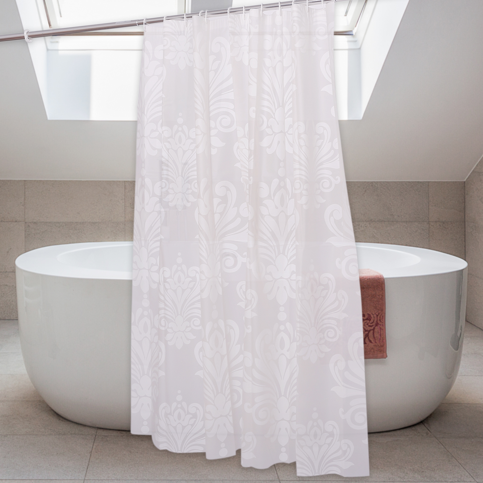 Salle De Bain Et Eau ~ 3d rideau de douche anneaux salle de bains toilette d cor