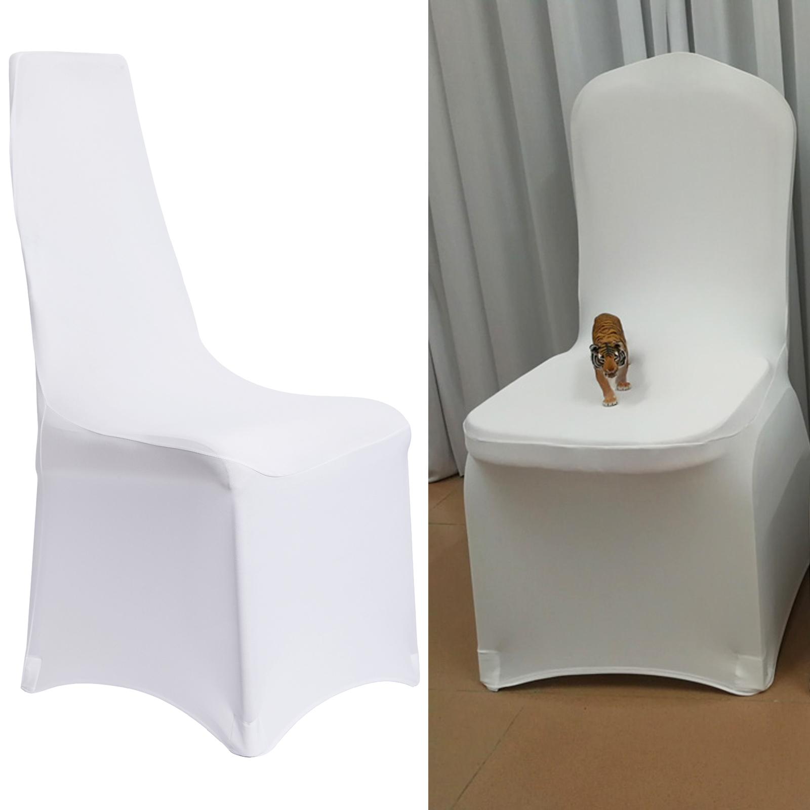 1 50er stuhlhussen stuhl berzug stuhl berwurf hochzeit restaurant hochzeit weiss ebay. Black Bedroom Furniture Sets. Home Design Ideas