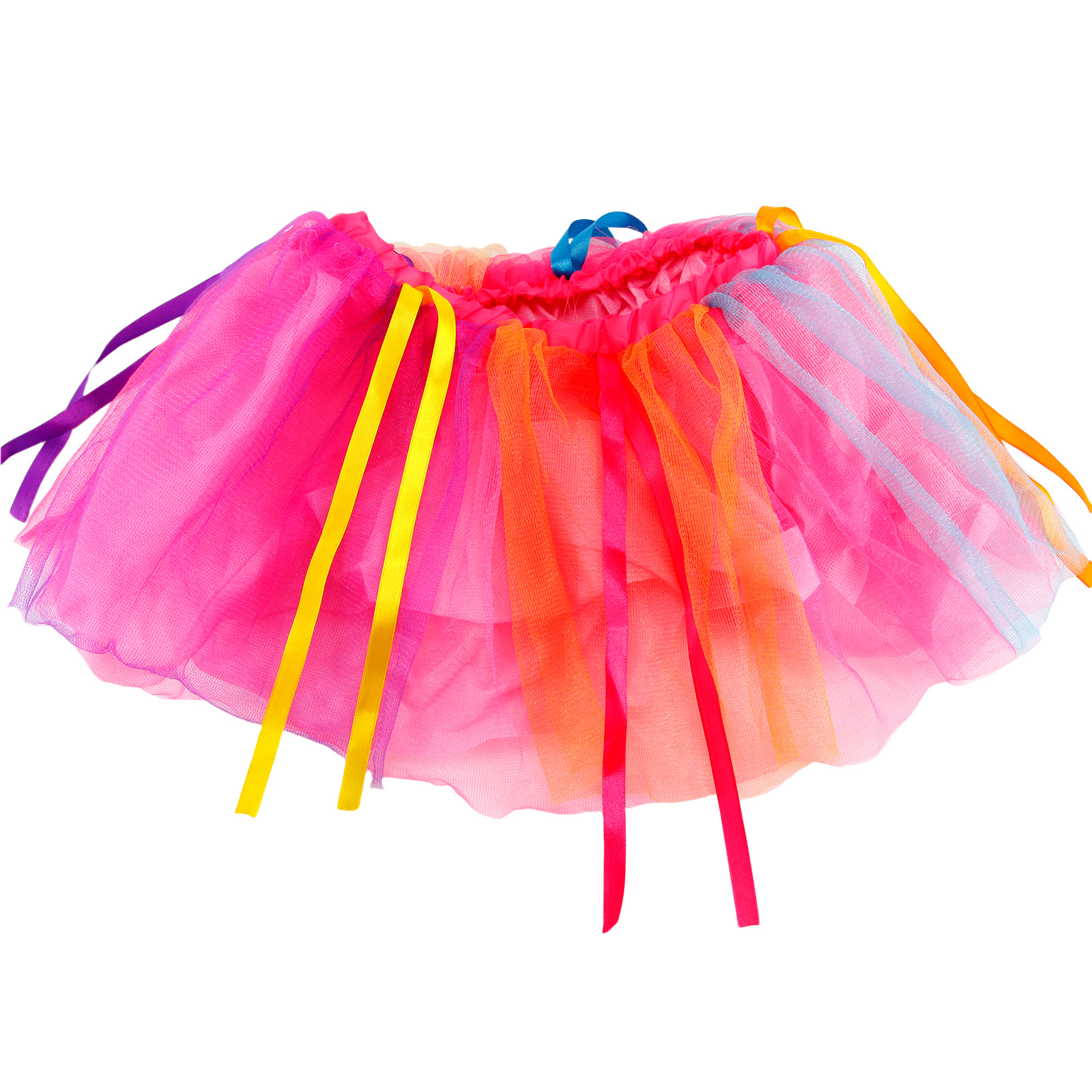 ad0436760 80s rainbow Tutu Skirt Girl Kids Petticoat Fancy Dress han party   eBay