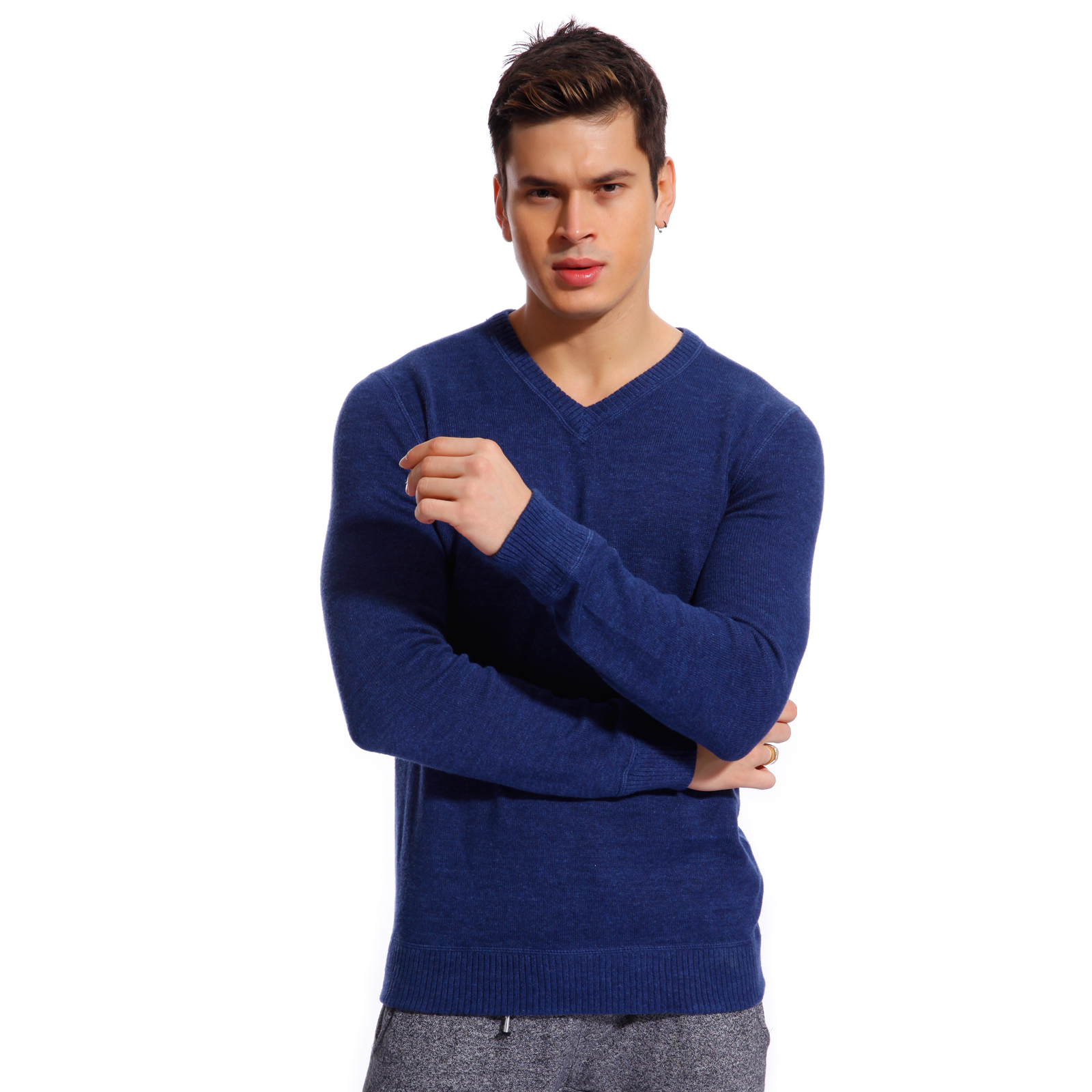 Copperside Mens 100% Cotton V-Neck Sweater | eBay