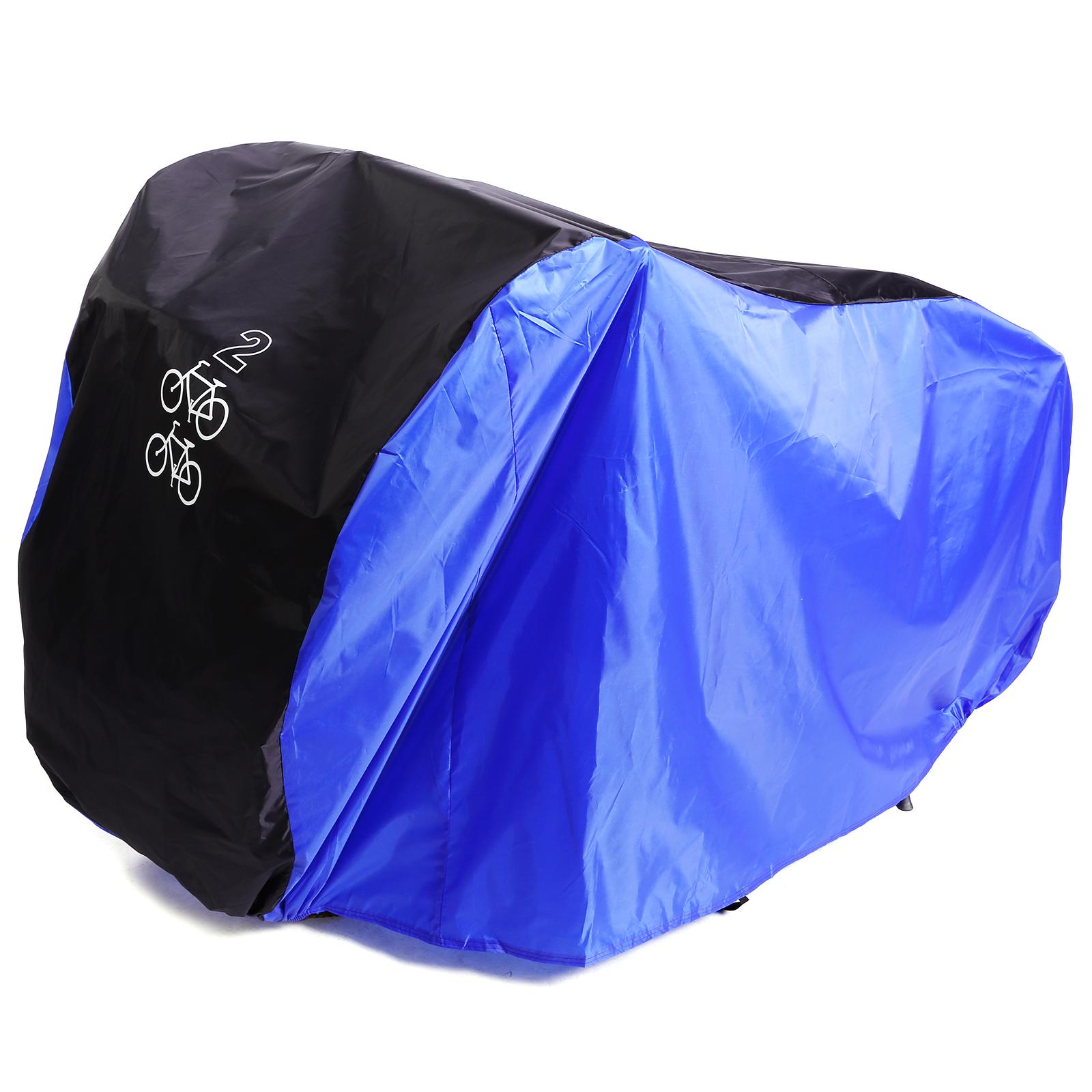 fahrrad h lle schutzabdeckung abdeck plane fahrradgarage f r bis 2 fahrr der ebay. Black Bedroom Furniture Sets. Home Design Ideas