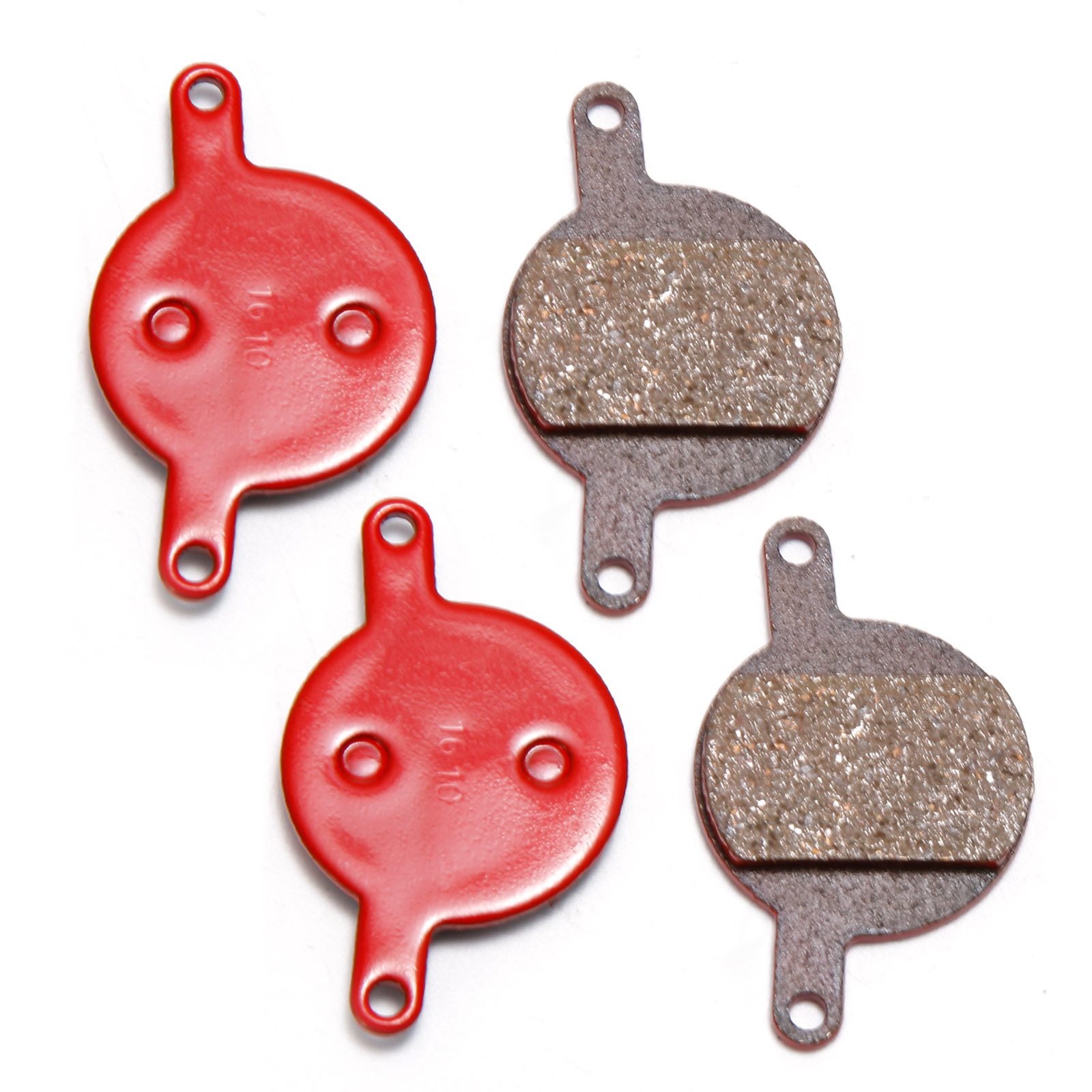 Organic Disc Brake Pads Replacement Red 4 Pairs for Magura Julie Model 2001-2008