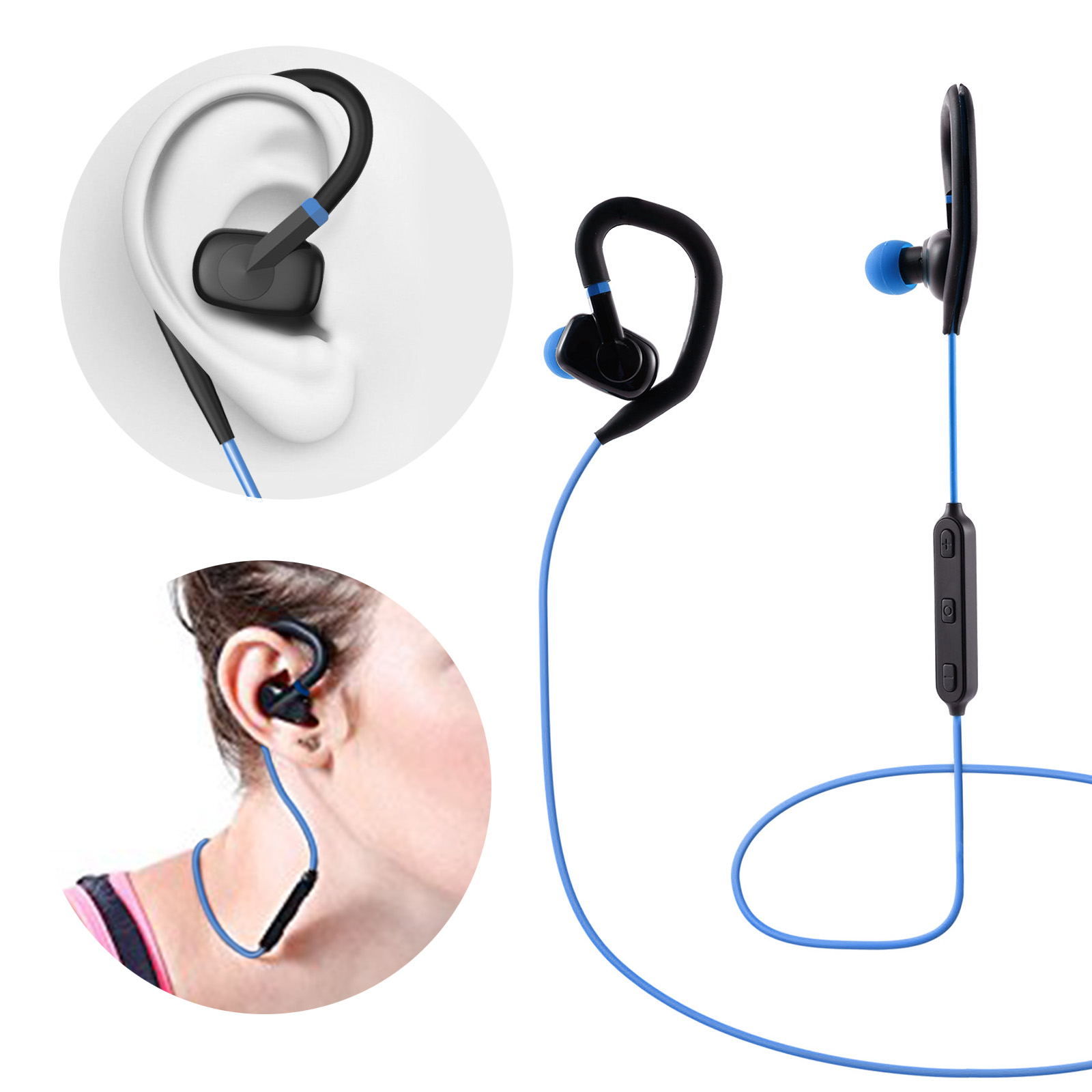 uvoks in ear kopfhrer bluetooth kopfh rer kabellos sport. Black Bedroom Furniture Sets. Home Design Ideas