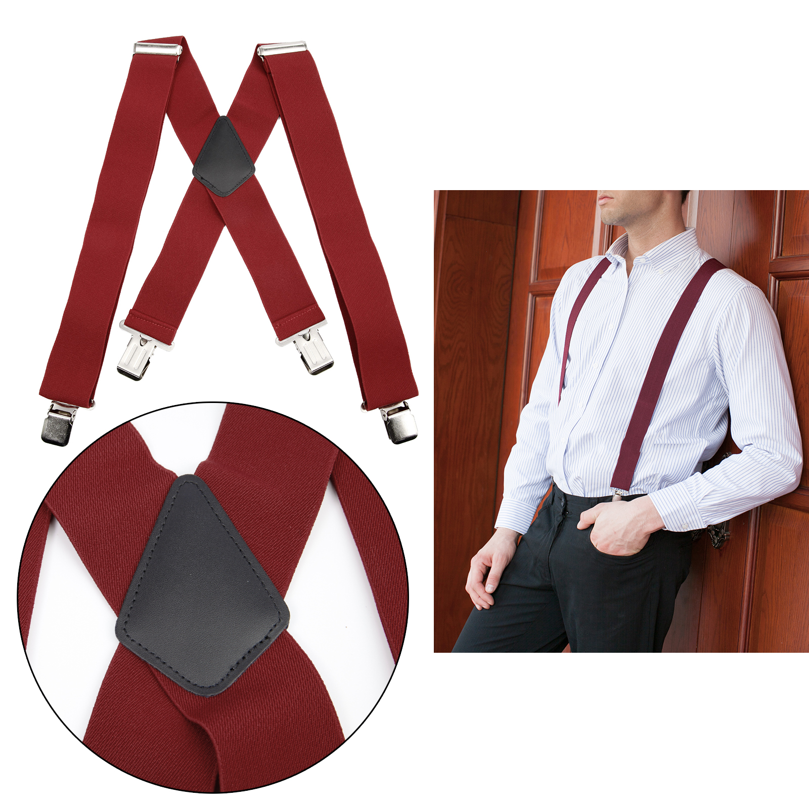 Multi Colour Braces Suspenders Business Man Funny Fancy Dress Up New Sealed