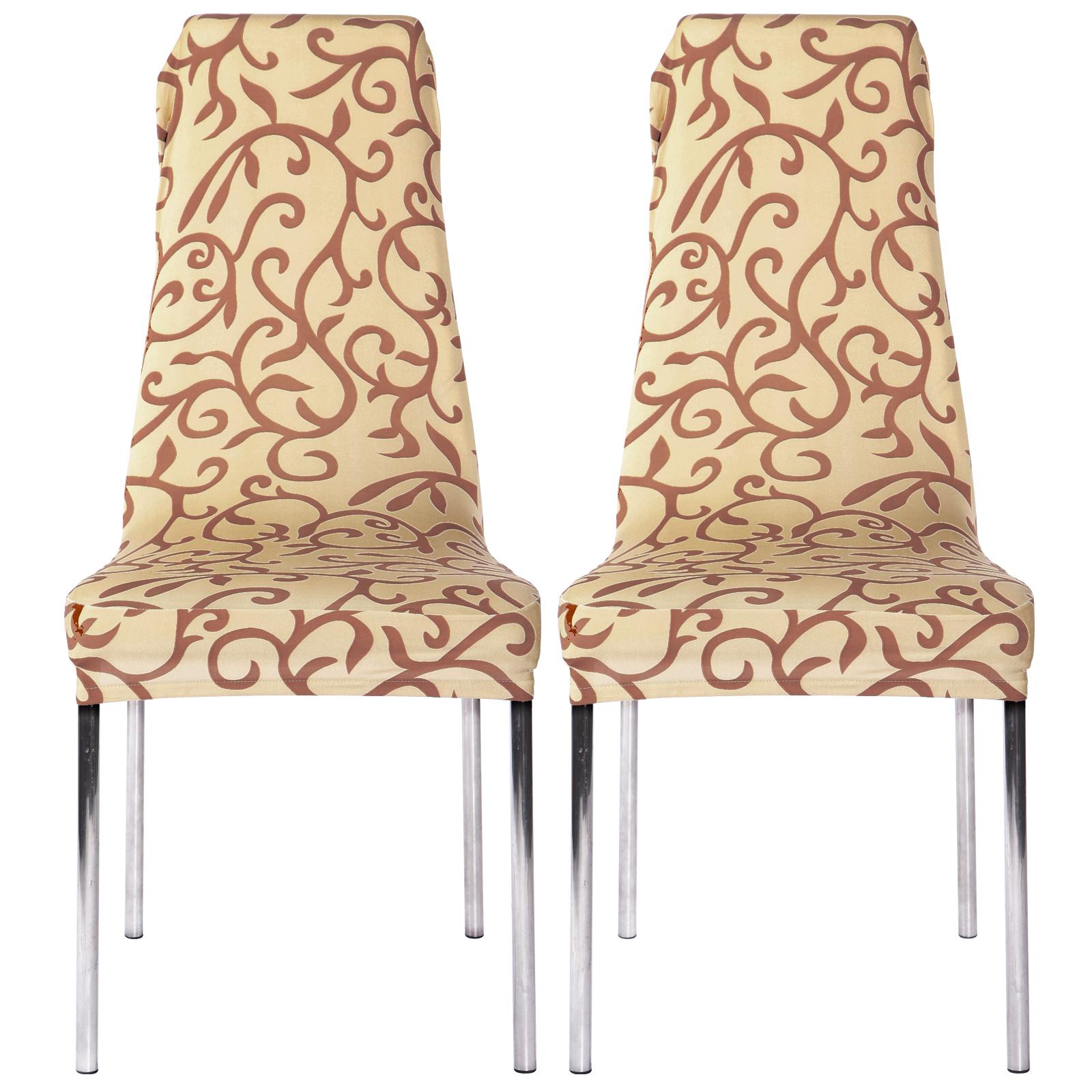 9a205107765f9e 2x Housse Chaise Couverture Elastique fete Soirée célébration rotin ...