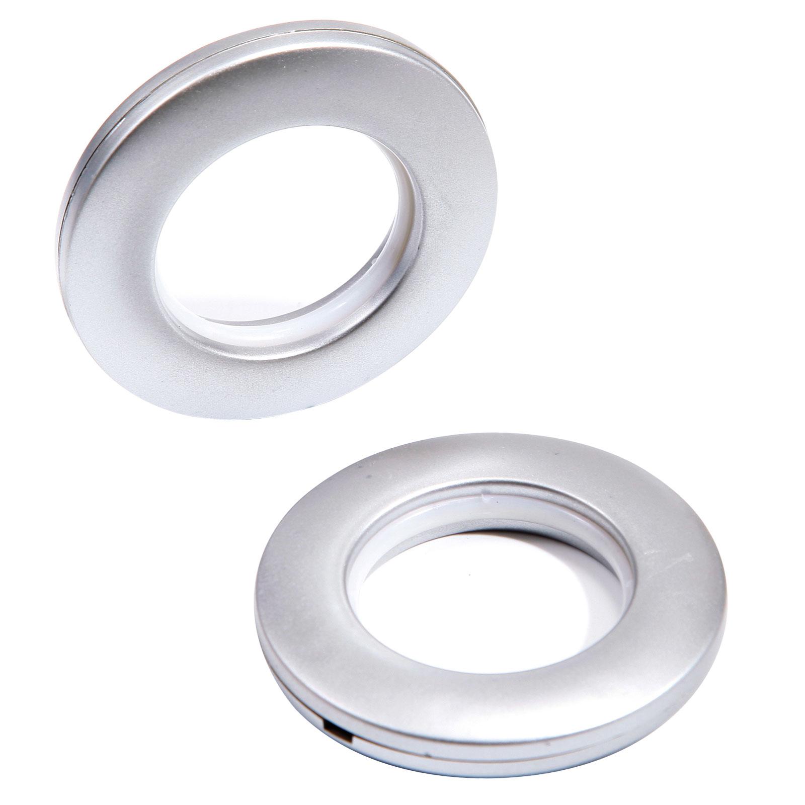 10 x Matte Silver 40mm Eyelet Rings