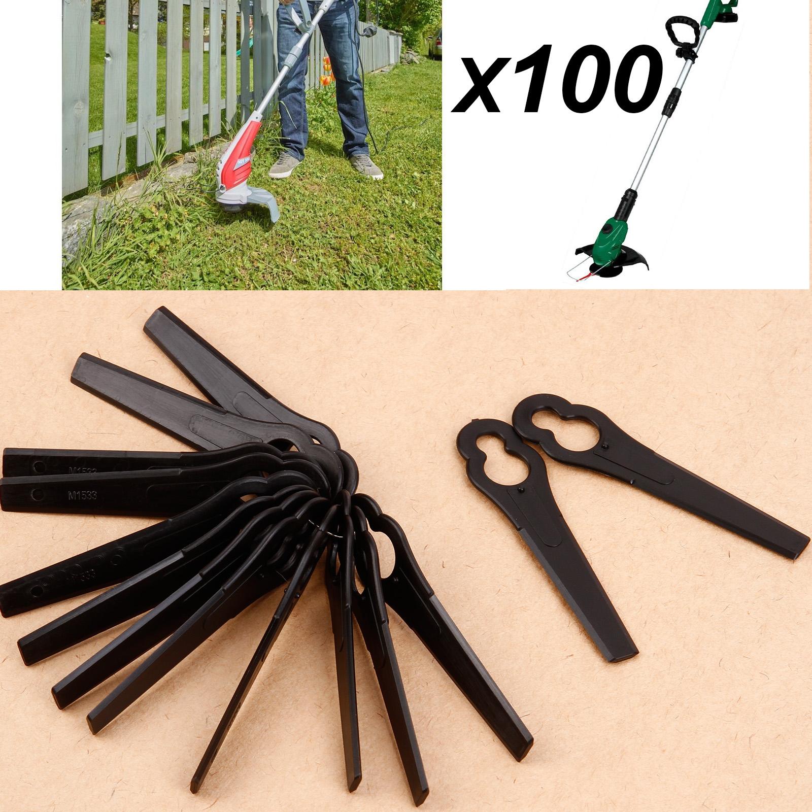 100X Ersatzmesser für Rasentrimmer PRTA 20-Li A1 Schwarz DE Überweisung