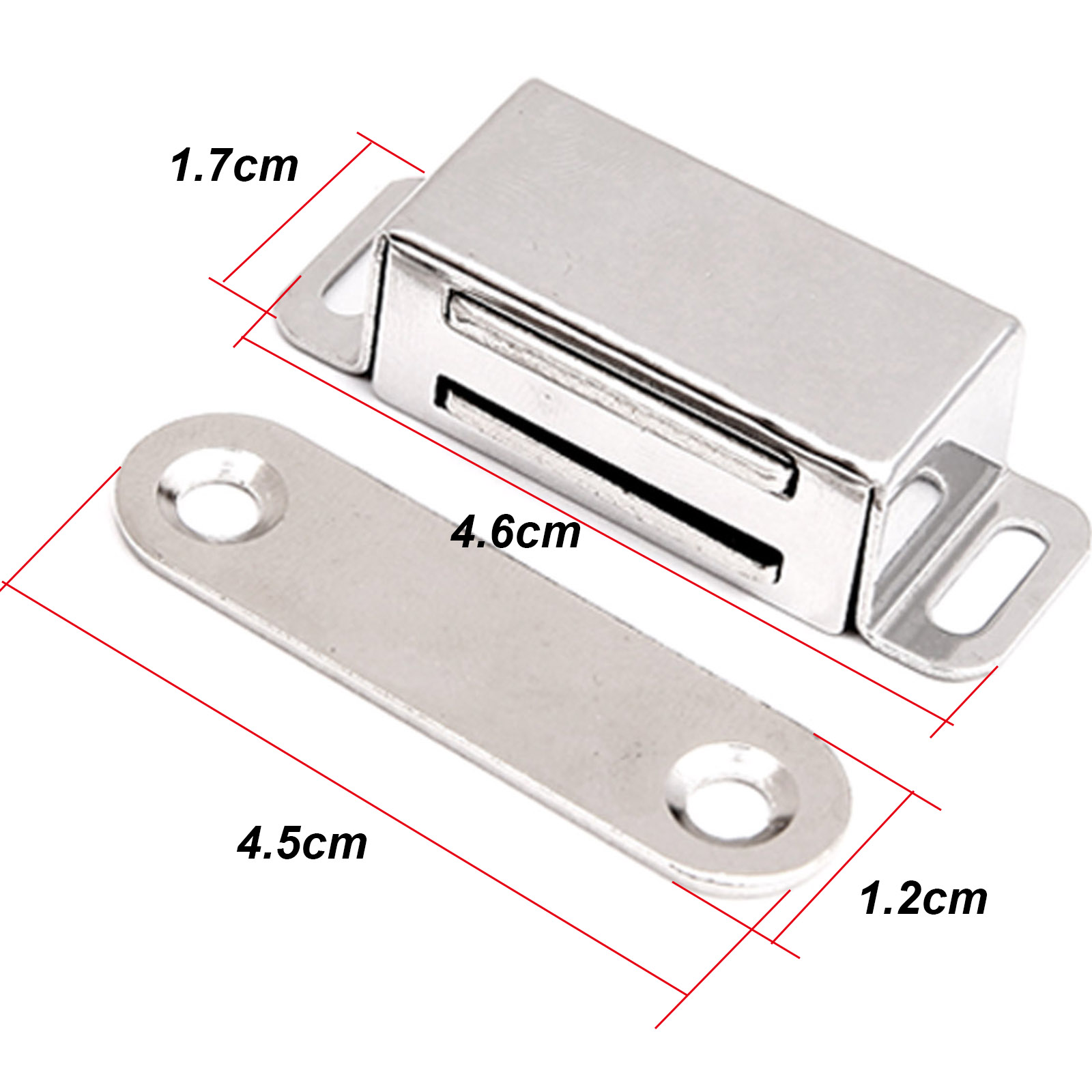 10pcs  Magnetic Heavy Duty Cupboard Cabinet Catches Door Wardrobe Latches