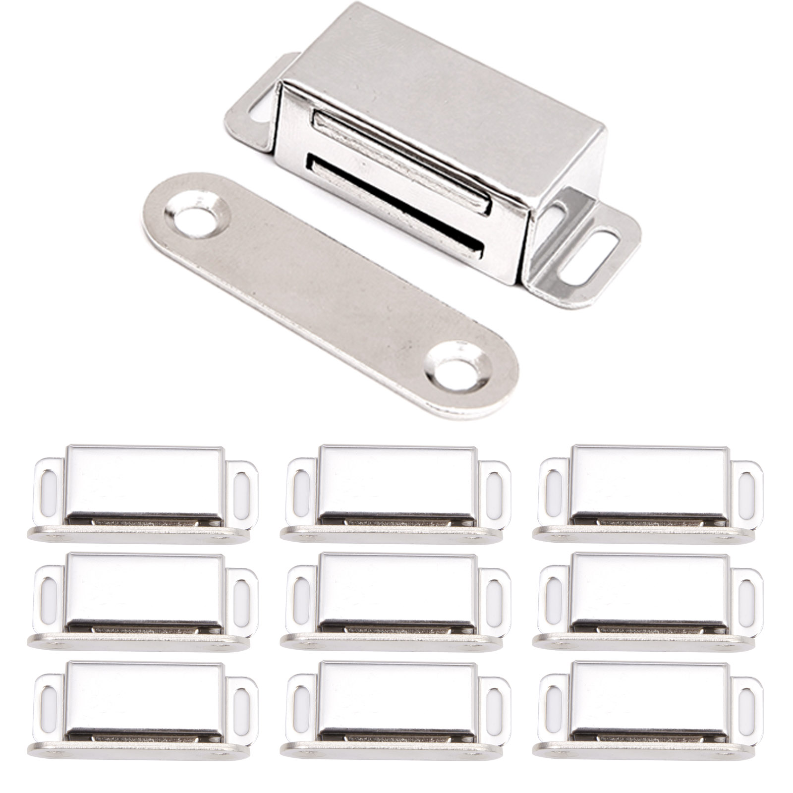 Magnetschnapper Tür Möbelmagnet eckig Türmagnet Magnetverschluss mit Gegenplatte