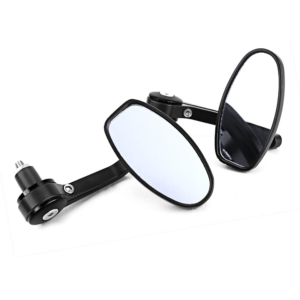 2x motorrad spiegel lenkerendenspiegel lenkerspiegel for Spiegel unten motorrad