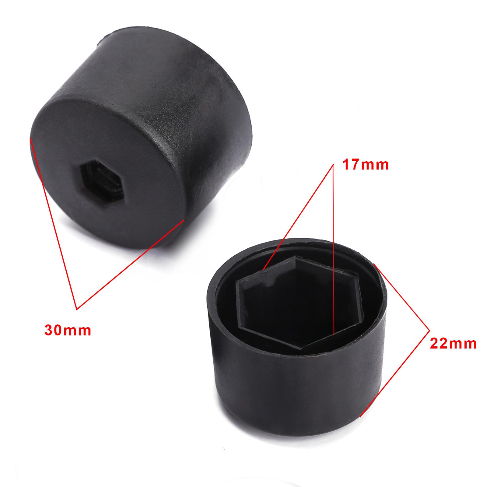 20x cache ecrou hexagonal noir taille 17mm vis boulon roue vw golf 4 bora passat ebay. Black Bedroom Furniture Sets. Home Design Ideas