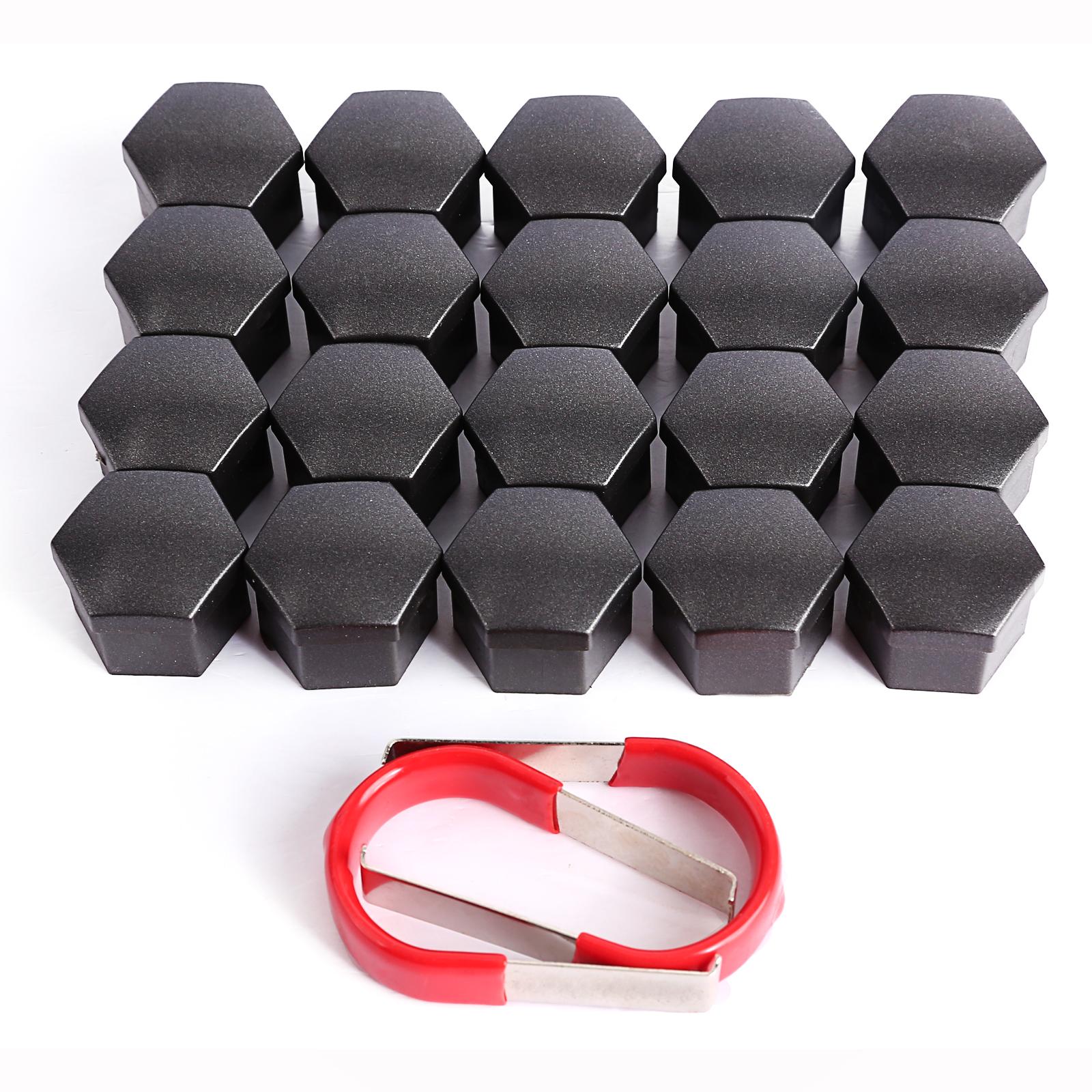 20 1 x Alloy Wheel Nut Caps Bolt Covers for Audi VW Vauxhall Bmw Plastic 19 mm