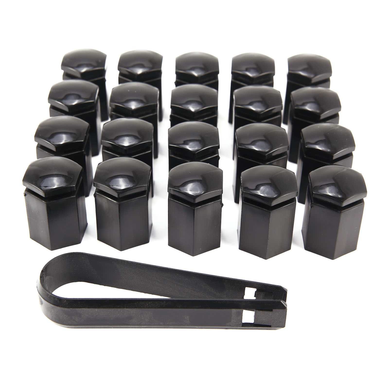 20x radschrauben radbolzen radmutter kappen abdeckung sw17 inkl abzieher ebay. Black Bedroom Furniture Sets. Home Design Ideas
