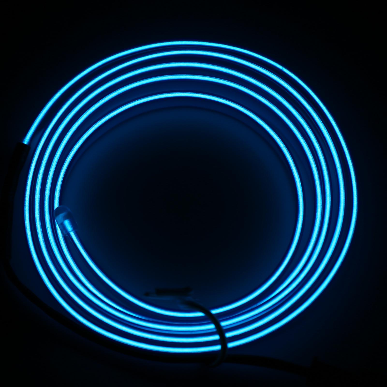 2M Blau EL Neon Kabel Lichtschnur Leuchtschnur Leuchtdraht Wire ...