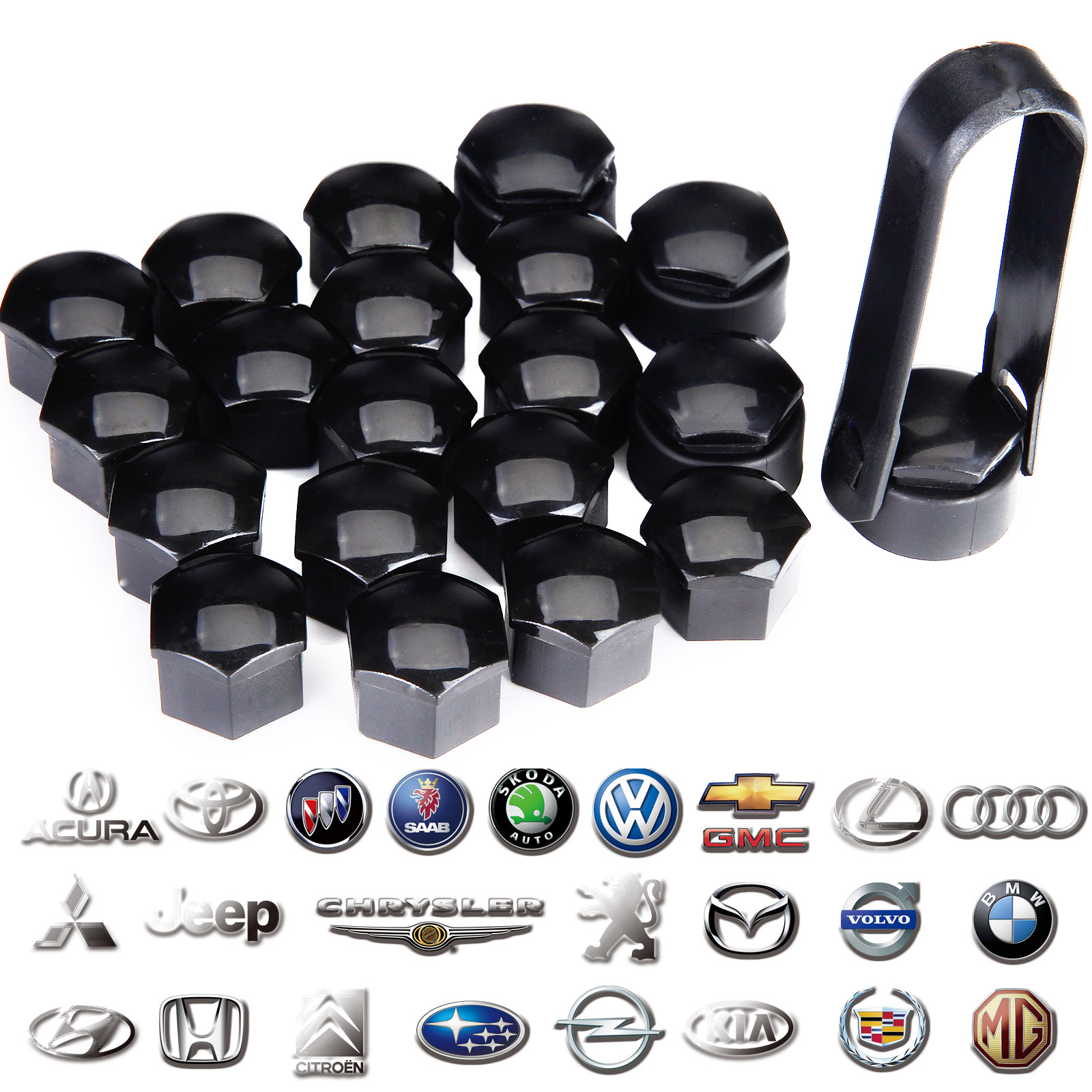 PLASTIC Removal Tool for Wheel Bolt Nut Caps Covers fits VOLVO V90