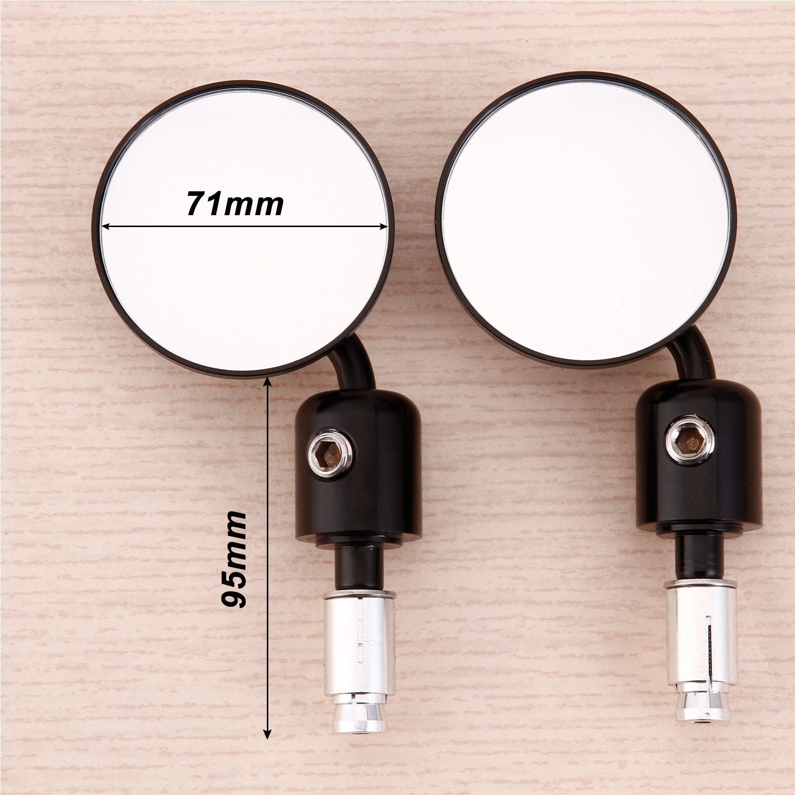 2x motorrad r ckspiegel lenkerendenspiegel spiegel 7 8. Black Bedroom Furniture Sets. Home Design Ideas