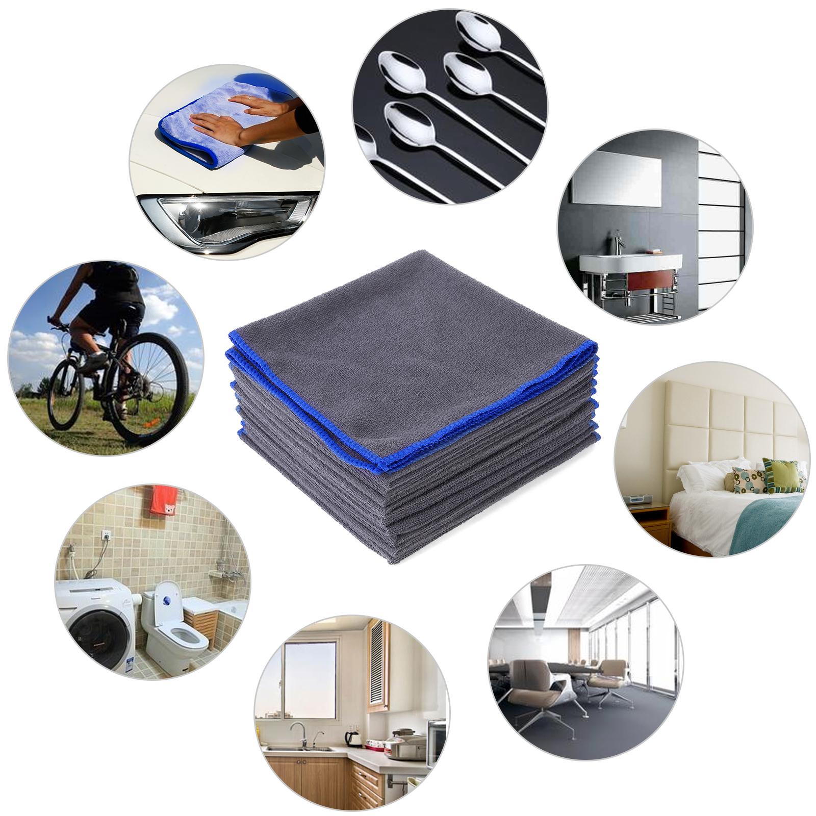 lot 10x serviette microfibre chiffon nettoyage voiture. Black Bedroom Furniture Sets. Home Design Ideas