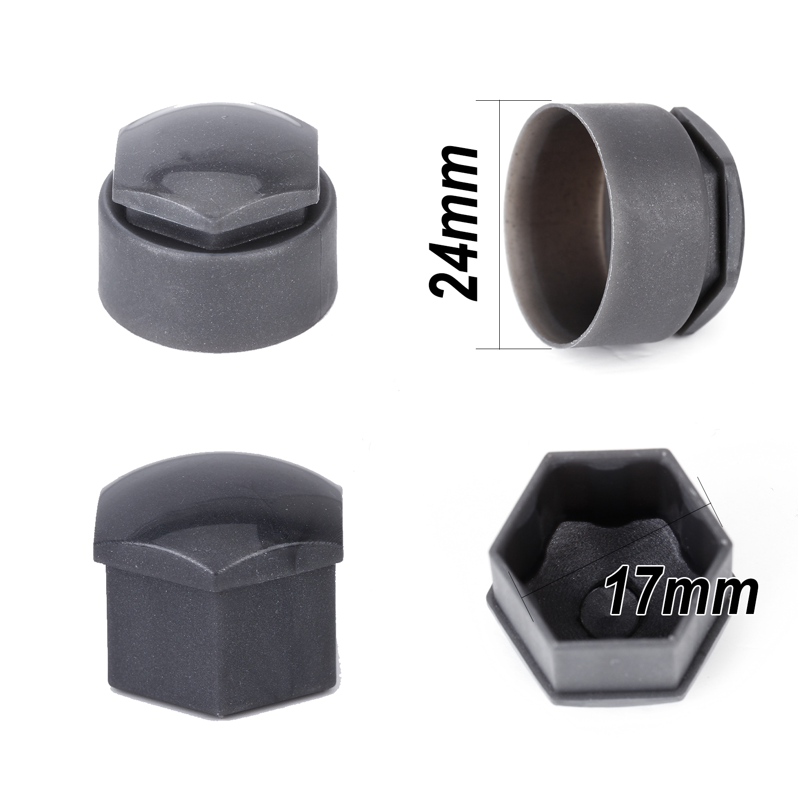 17mm car locking caps bolts covers nuts alloy wheel for vw. Black Bedroom Furniture Sets. Home Design Ideas