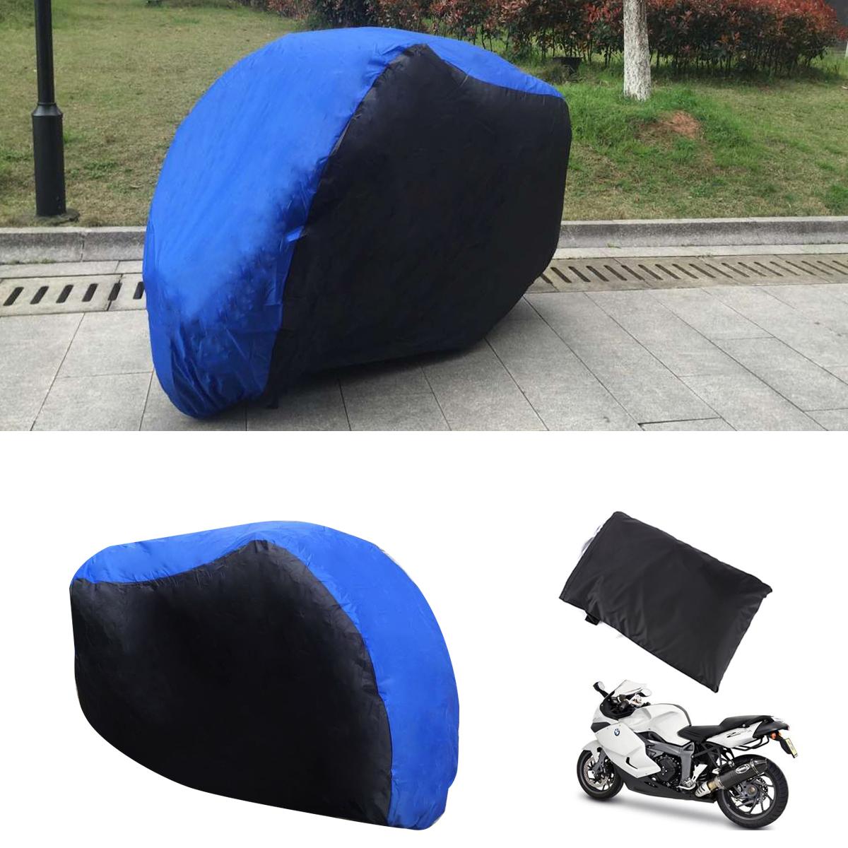 housse bache moto protection interieur exterieur taille xl 245cm bleu noir ebay. Black Bedroom Furniture Sets. Home Design Ideas