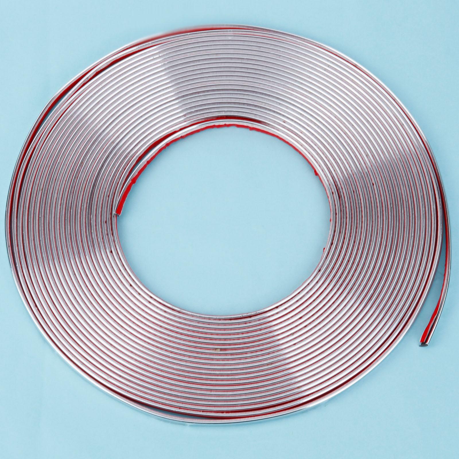 15m x 6mm chrom zierleisten selbstklebend chromleiste leiste kantenschutz ebay