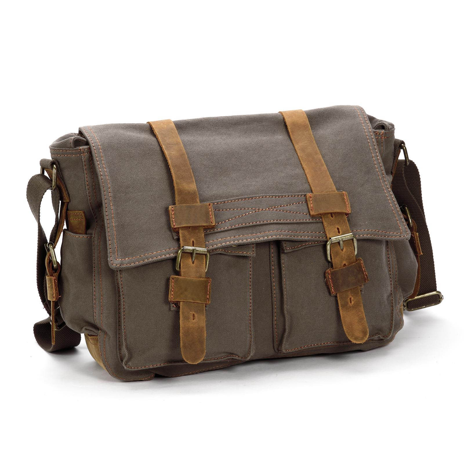 herren canvas rucksack schultertasche messenger bag umh ngetasche sport tasche ebay. Black Bedroom Furniture Sets. Home Design Ideas
