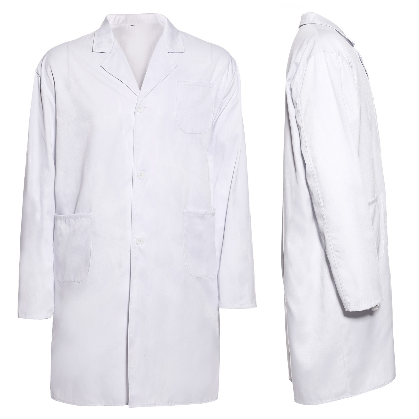 Lab Coat Men Ladies Medical Clinic Healthcare Vet Doctor Long ...