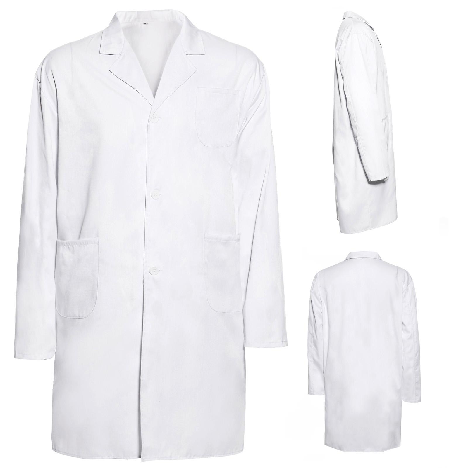 baumwolle laborkittel damen wei labor medizin arzt kittel mantel visitenmantel ebay. Black Bedroom Furniture Sets. Home Design Ideas