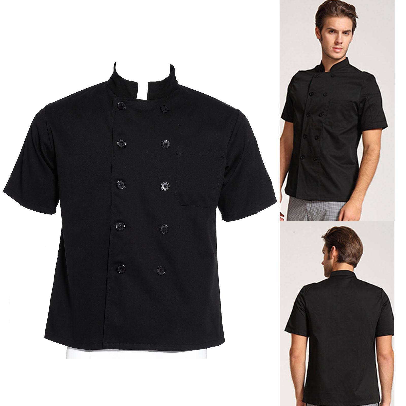 Nero Cuoco Manica Uomo Giacca Pantaloni Lunga O Camicia Corta Chef qaazIT5