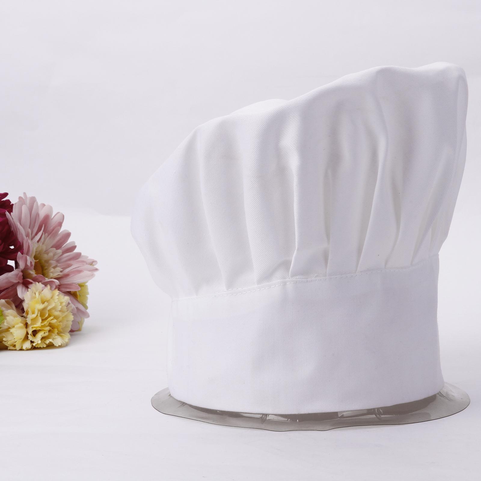 Professionale cappello da cuoco cucina. Una misura più adatta! Con fascia  elastica nella parte posteriore. Ideale per collegi 2a899556f46b