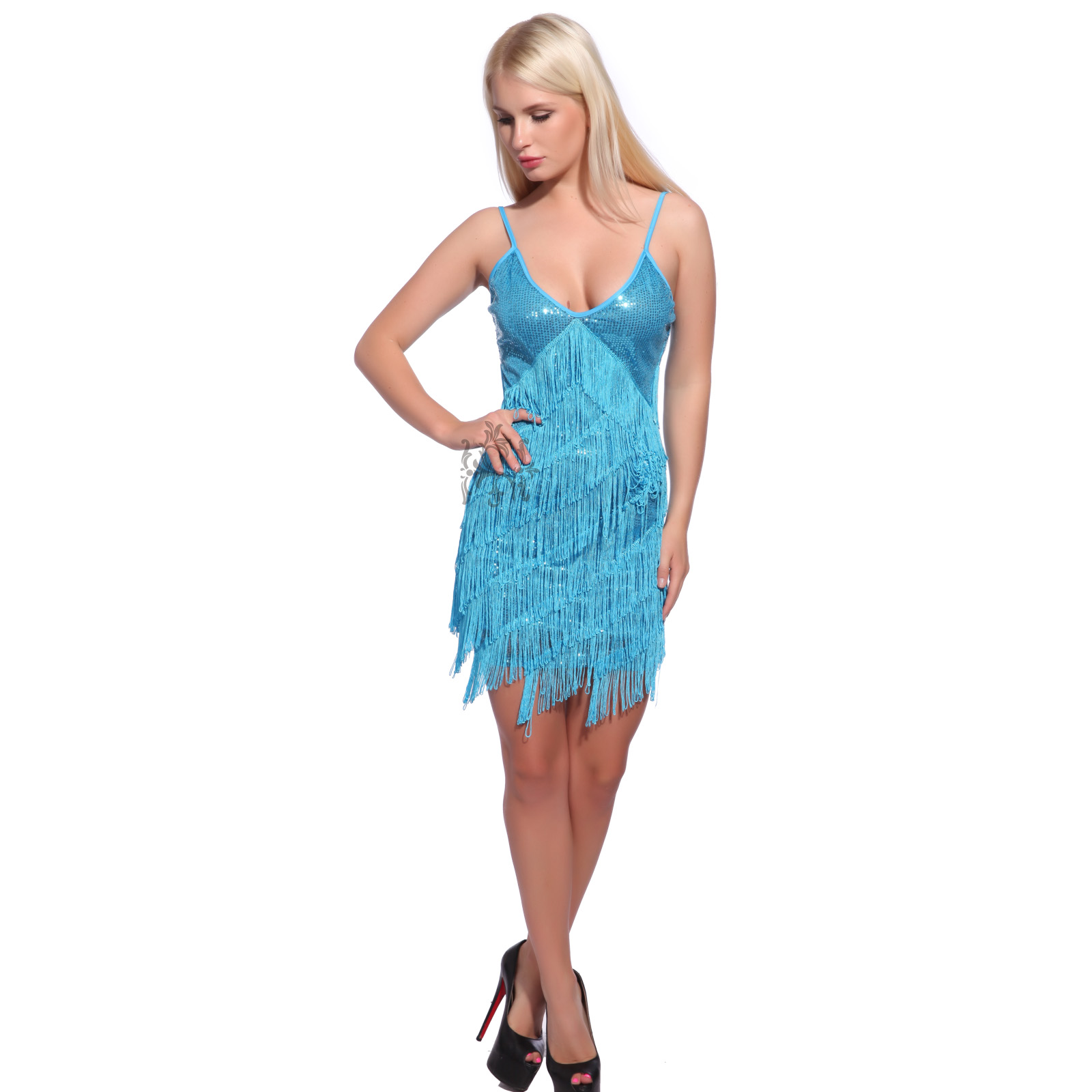 Ladies 1920s 30s 8 Tiered Fringed Tassel Charleston Gatsby Flapper ...