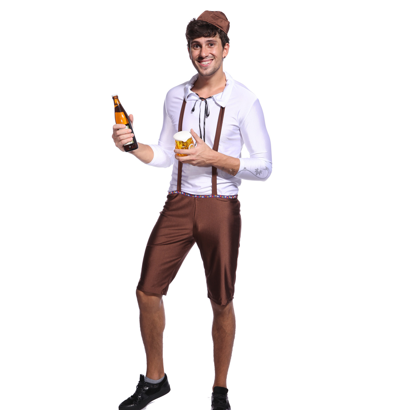 Mens Oktoberfest Beer Bottle Costume Funny Comedy Stag