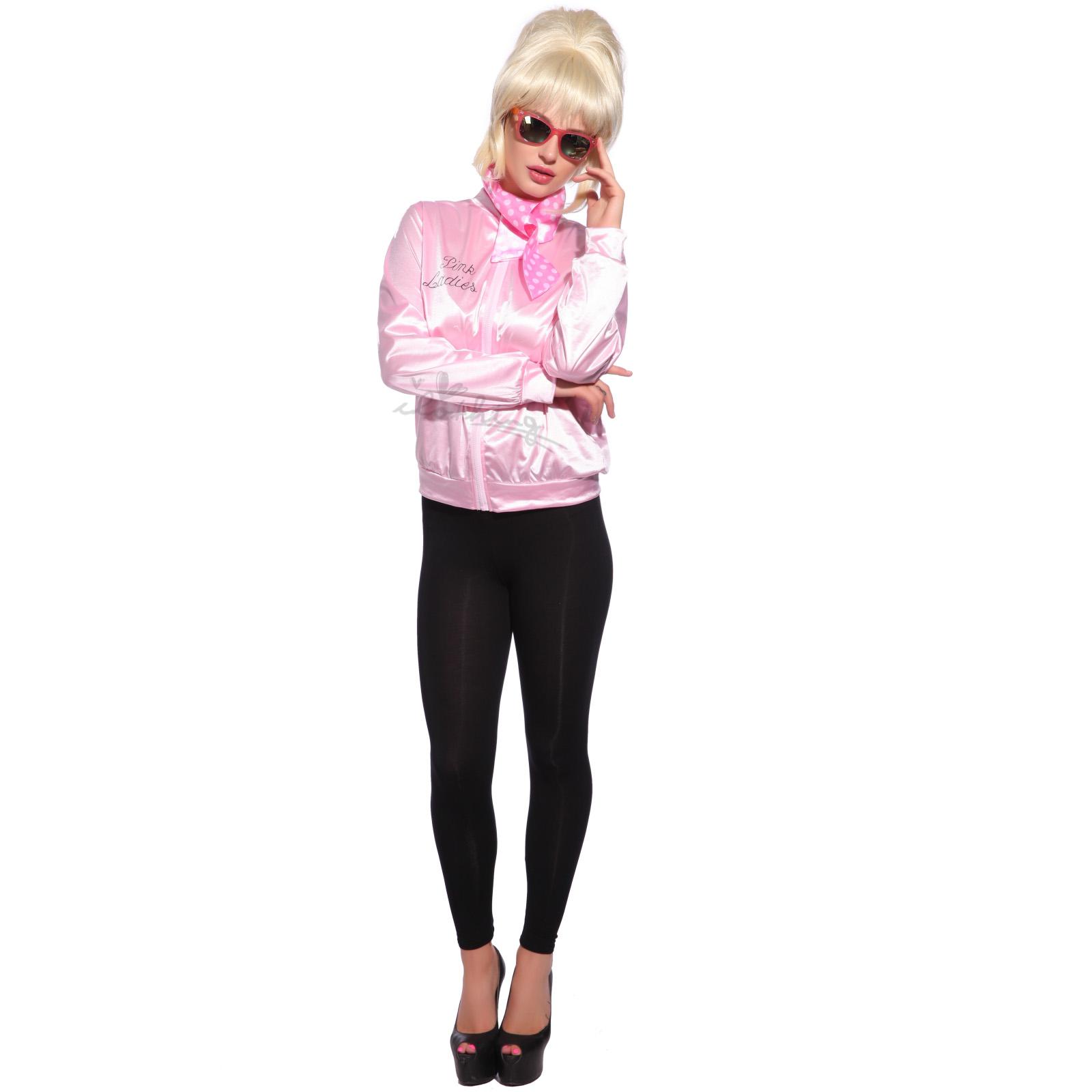 Disfraz de Pink Lady 50s Grease Pink Lady Chaqueta Rosa Talla XS ... eb1059220dc49