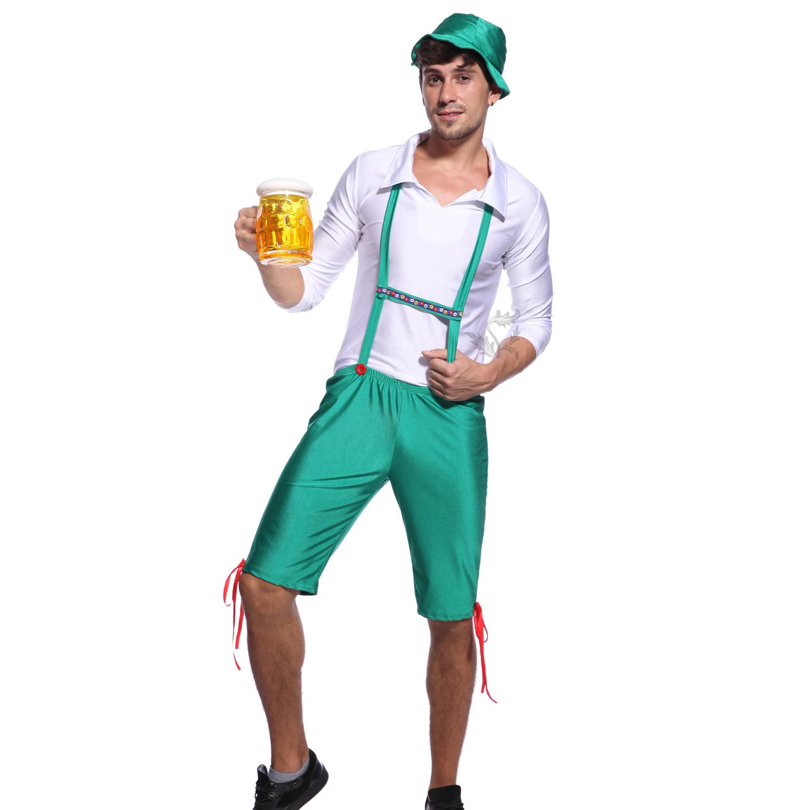mens ladies oktoberfest german beer maid wench costume halloween fancy dress pro - Male Costumes Halloween