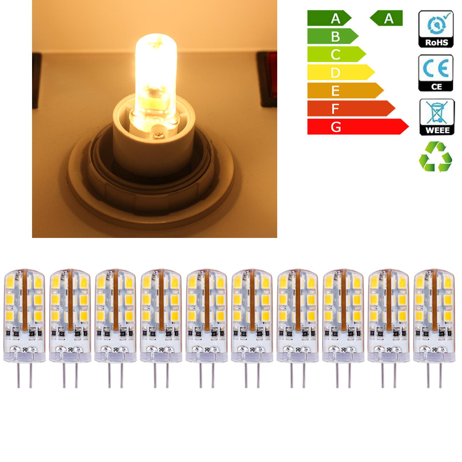 10 x ampoules 2w led lumiere jaune chaud 24 led eclairage decoration lampe ebay. Black Bedroom Furniture Sets. Home Design Ideas