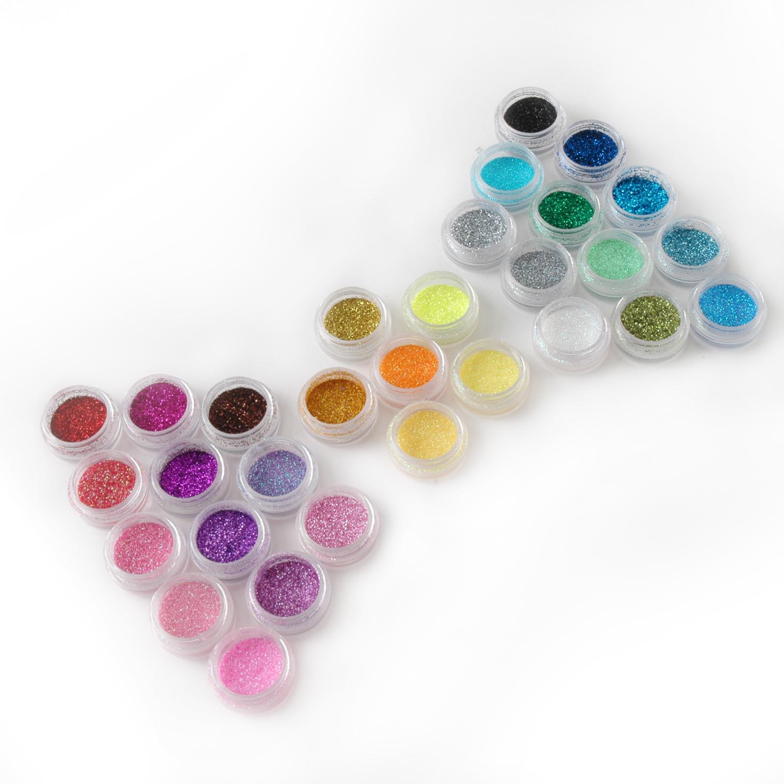 30x glitter glimmer glitzer pulver puder glitterstaub nageldesign ebay. Black Bedroom Furniture Sets. Home Design Ideas