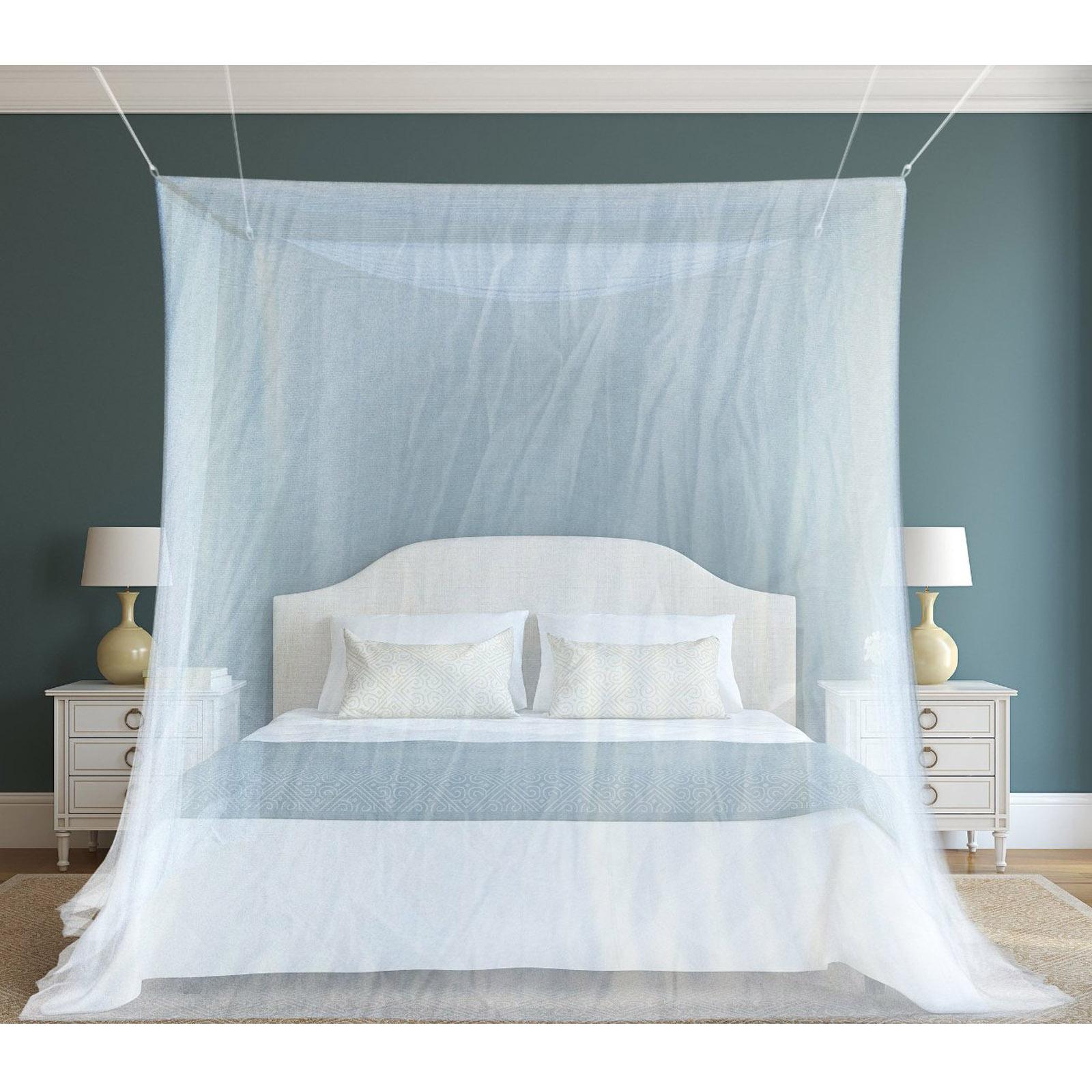 xxl doppelbett moskitonetz fliegengitter fliegennetz betthimmel m ckennetz wei ebay. Black Bedroom Furniture Sets. Home Design Ideas