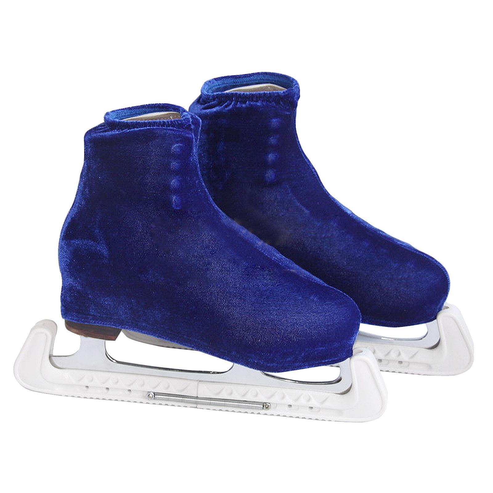 Pair Adjustable Ice Hockey Figure Skate Walking Blade Guard Protector Custom Fit