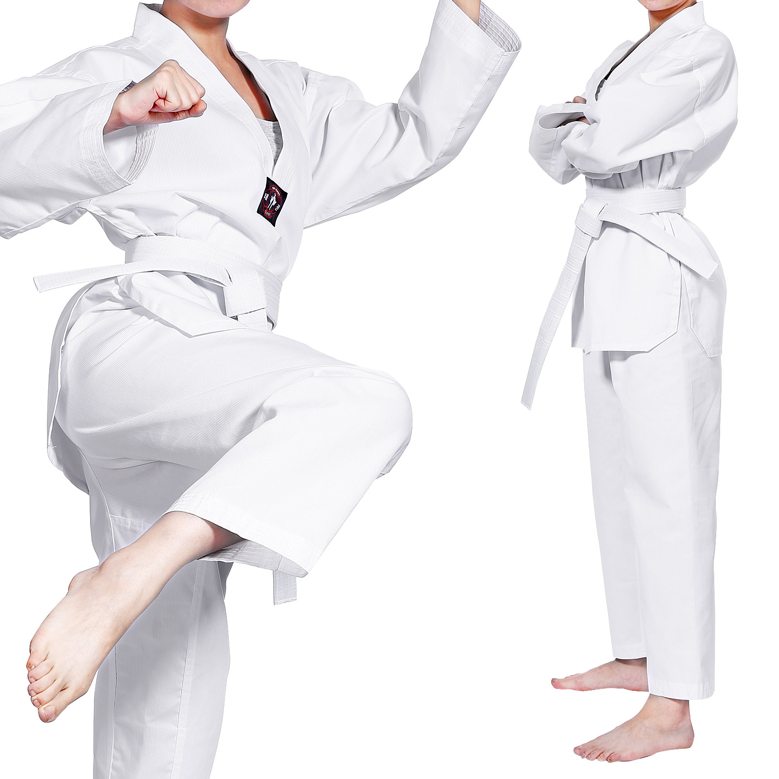 renshu taekwondo karateanzug mit g rtel kampfsport kinder. Black Bedroom Furniture Sets. Home Design Ideas
