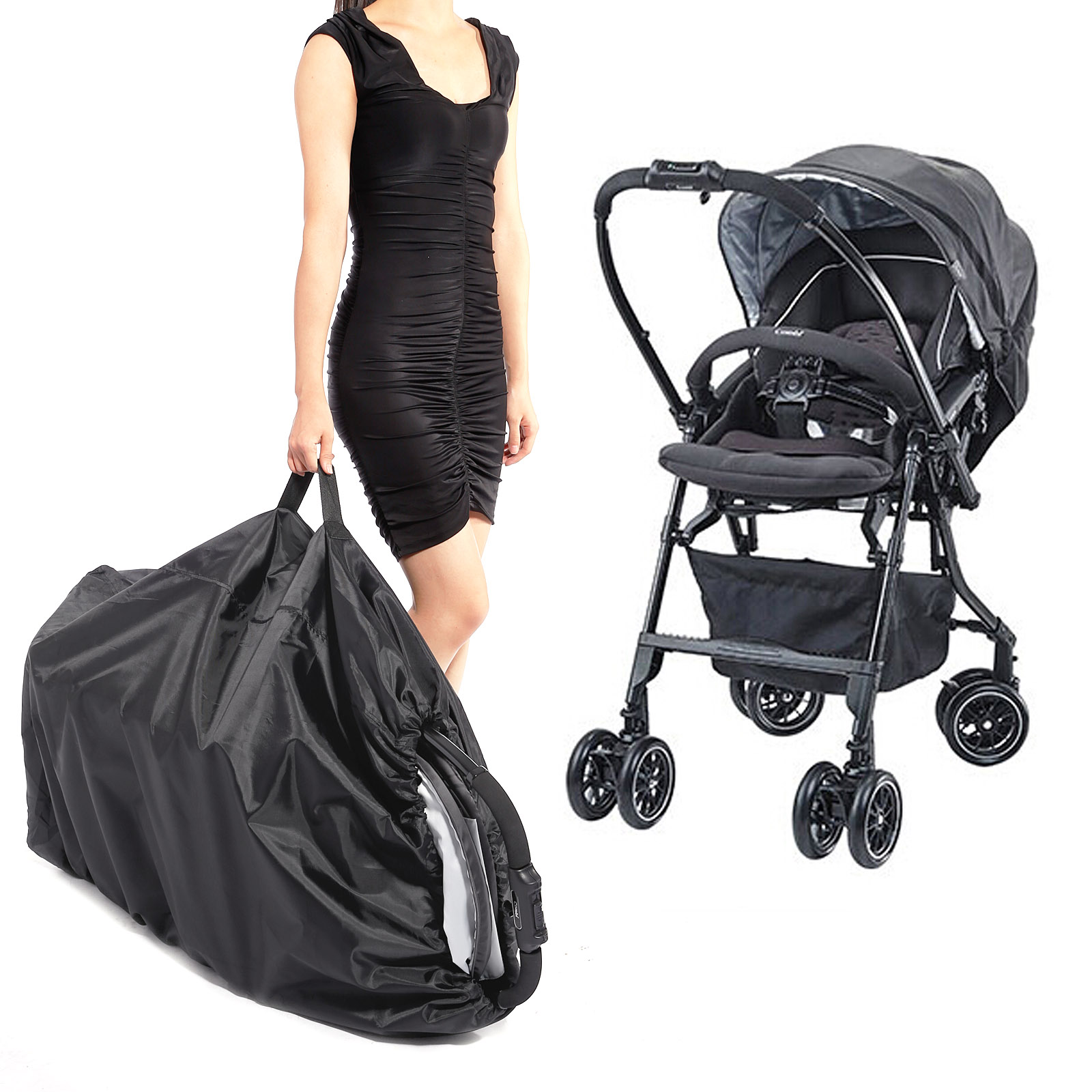 Sac de transport housse poussette landau couverture sac de for Housse de poussette