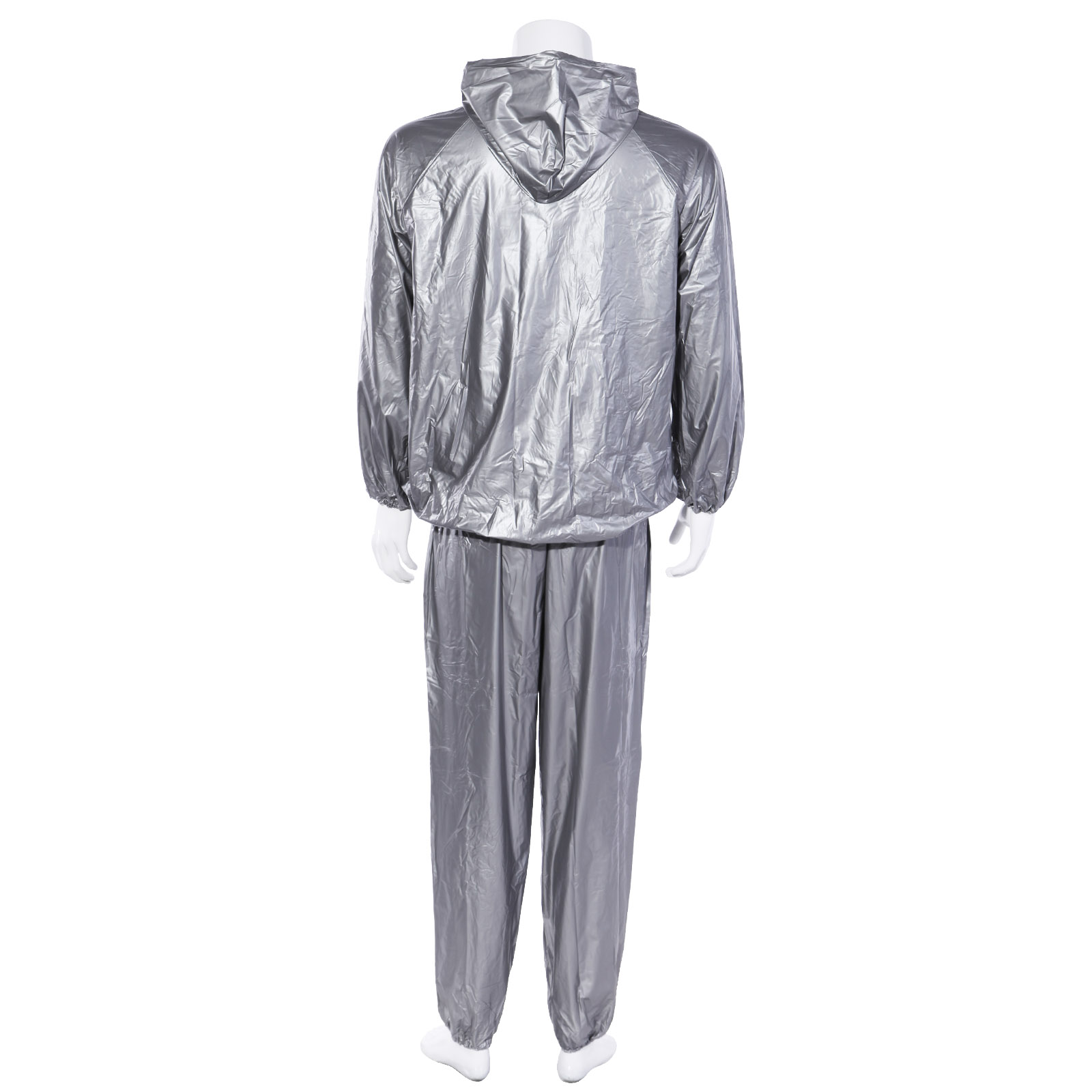 Silver Sauna Sweat Suit Hoodie Neck To Ankle For Weight