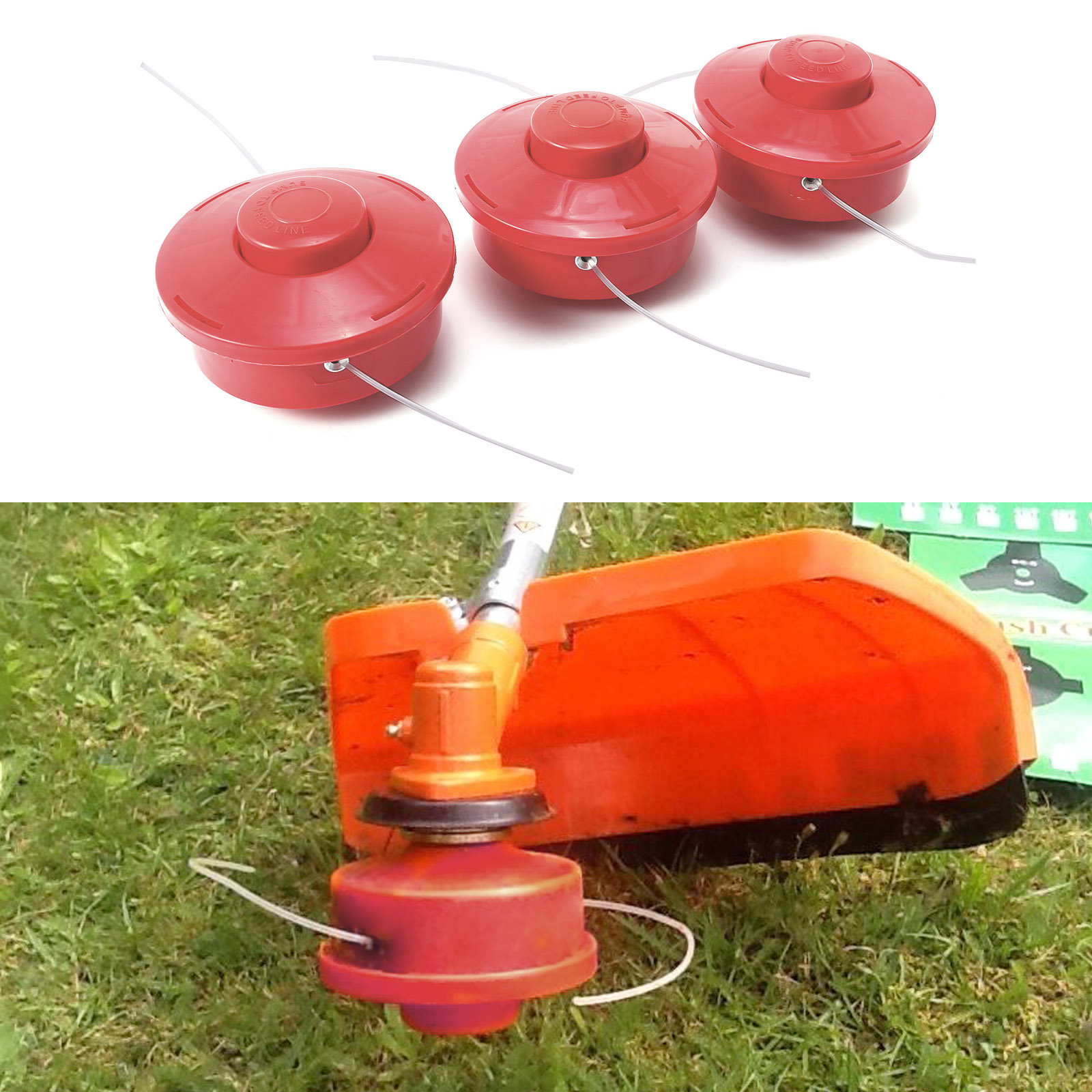 Details about Strimmer Head Bump Feed Nylon 2 Line Strimmer Brushcutter  With 2 4mm Cut Rope