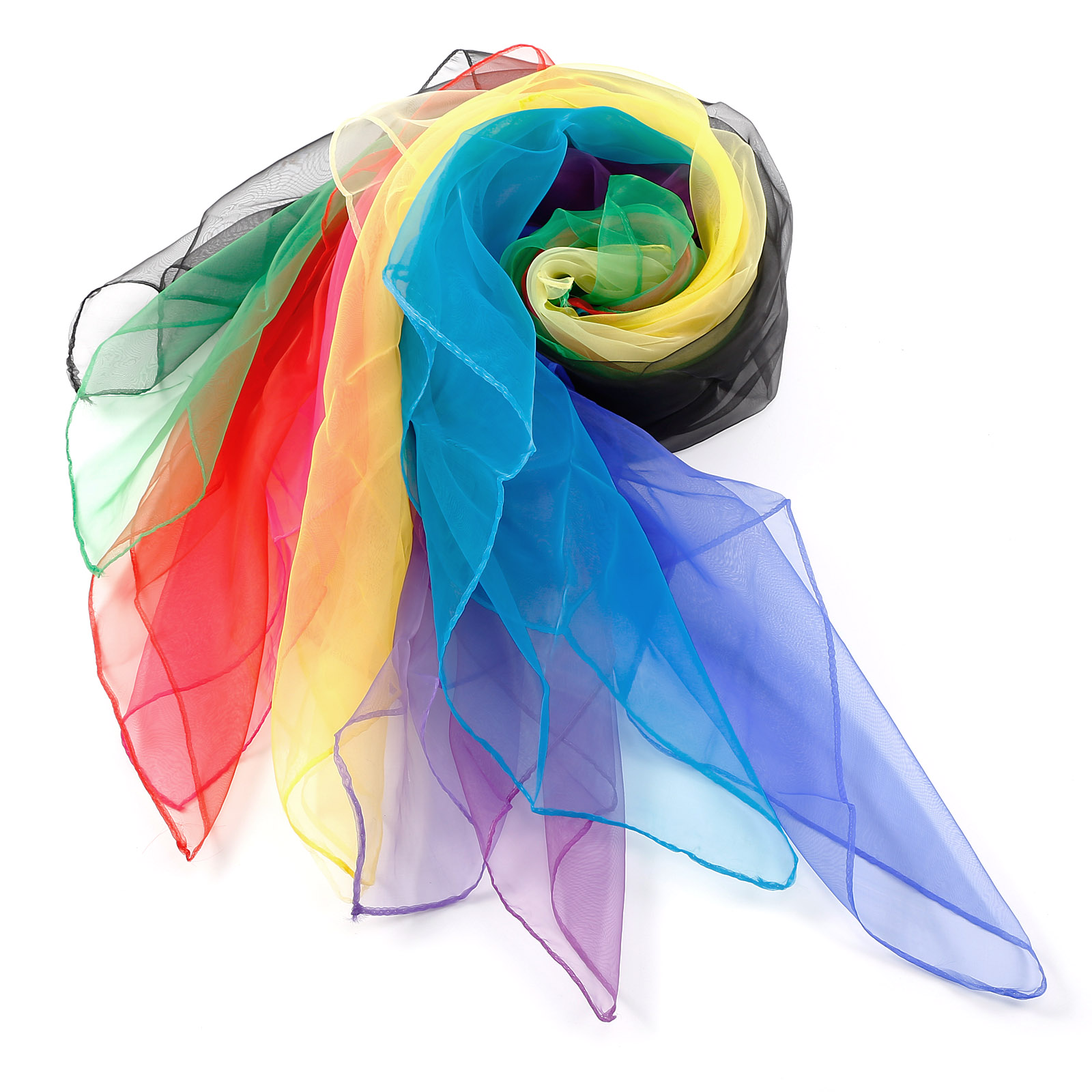 Band Scarves Soft 70 x 70cm Brand New 10 x Creative Dance Woman Large Juggling Scarfs