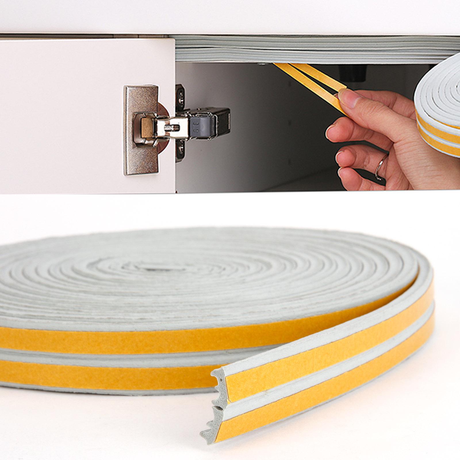 joint caoutchouc mousse adhesif interstice fenetre porte 6m forme profile e gris ebay. Black Bedroom Furniture Sets. Home Design Ideas