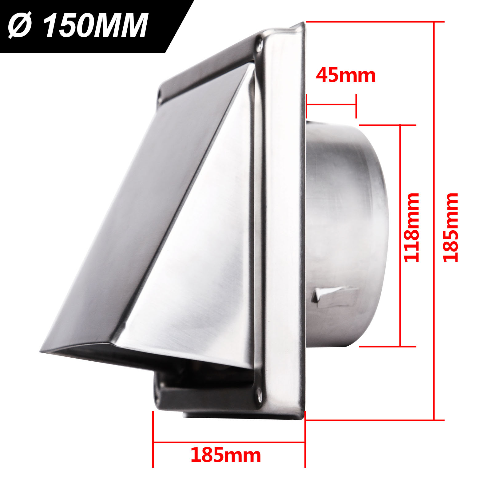 304stainless Steel Cooker Hood Extractor Outside Wall Air