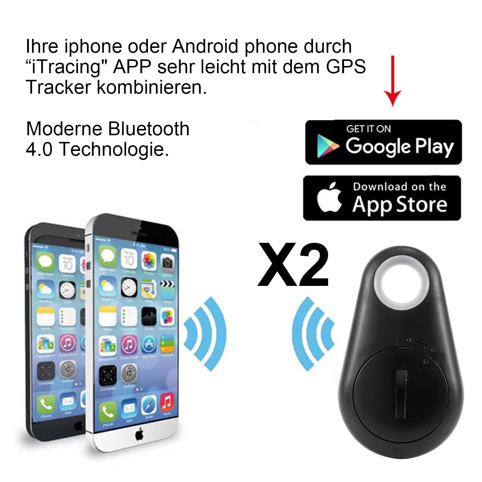 2 st ck mini gps tracker diebstahlsschutz f r auto taschen. Black Bedroom Furniture Sets. Home Design Ideas