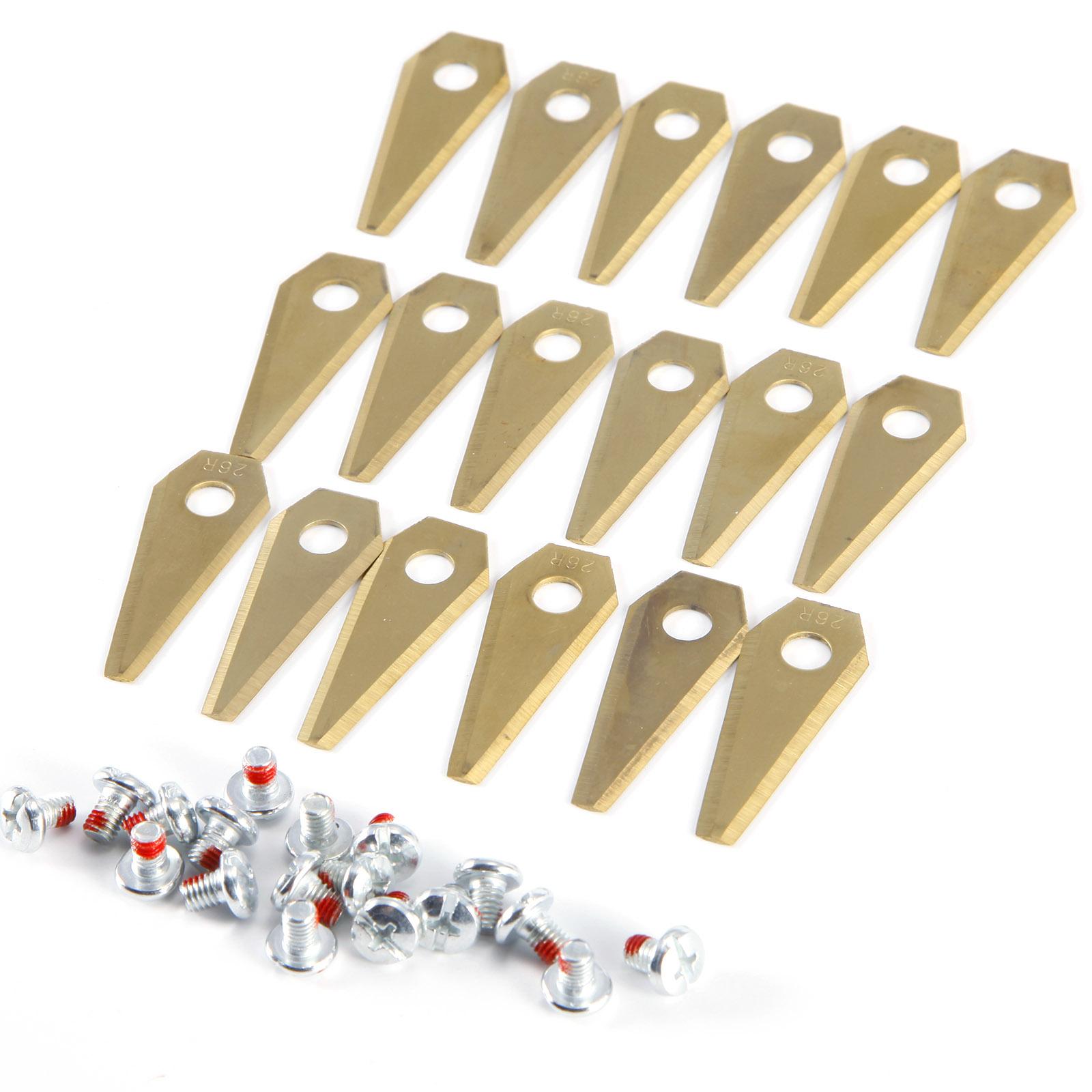 18 x Titan Ersatzklingen ERSATZMESSER für Bosch Indego Mähroboter Messer Klingen
